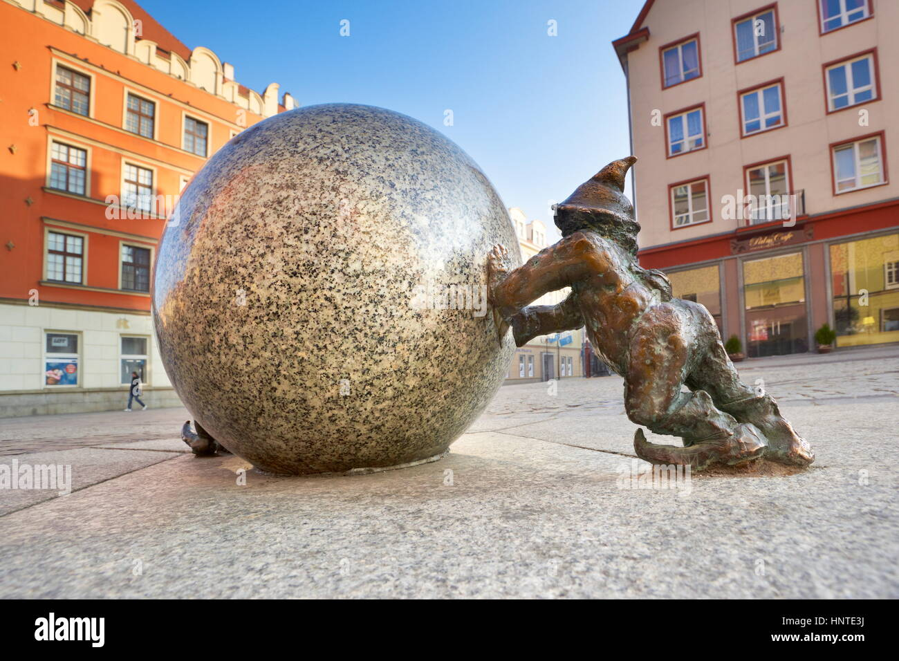 Wroclaw Dwarf (small street sculptures), Wroclaw, Poland, Europe - Stock Image