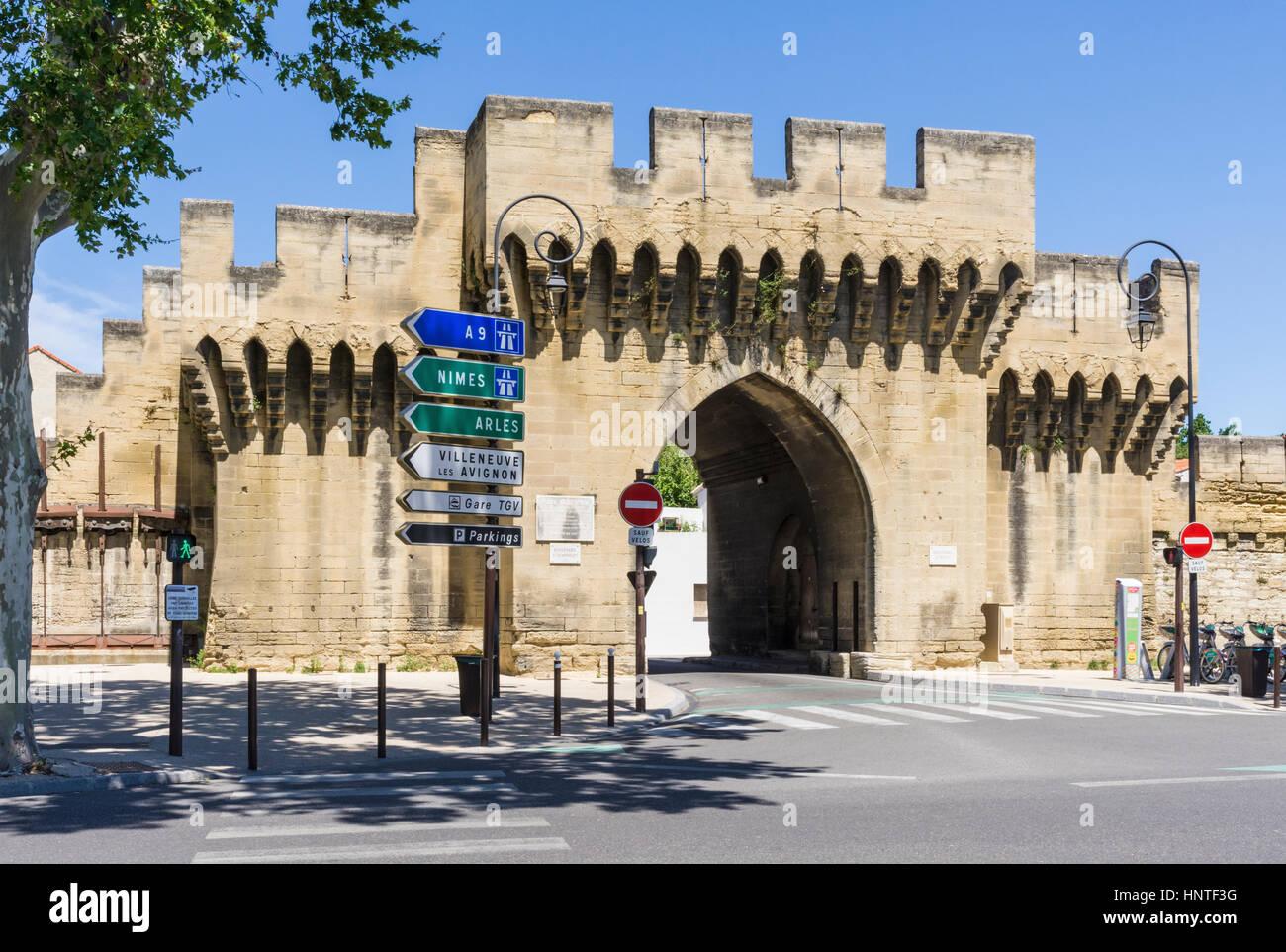Avignon france stock photos avignon france stock images alamy - Porte saint dominique avignon ...