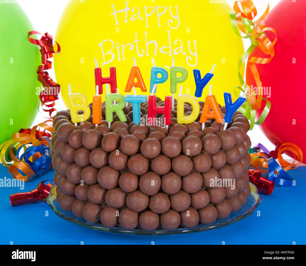 Fabulous Whopper Of A Chocolate Birthday Cake Decorated With Candy Malt Funny Birthday Cards Online Bapapcheapnameinfo