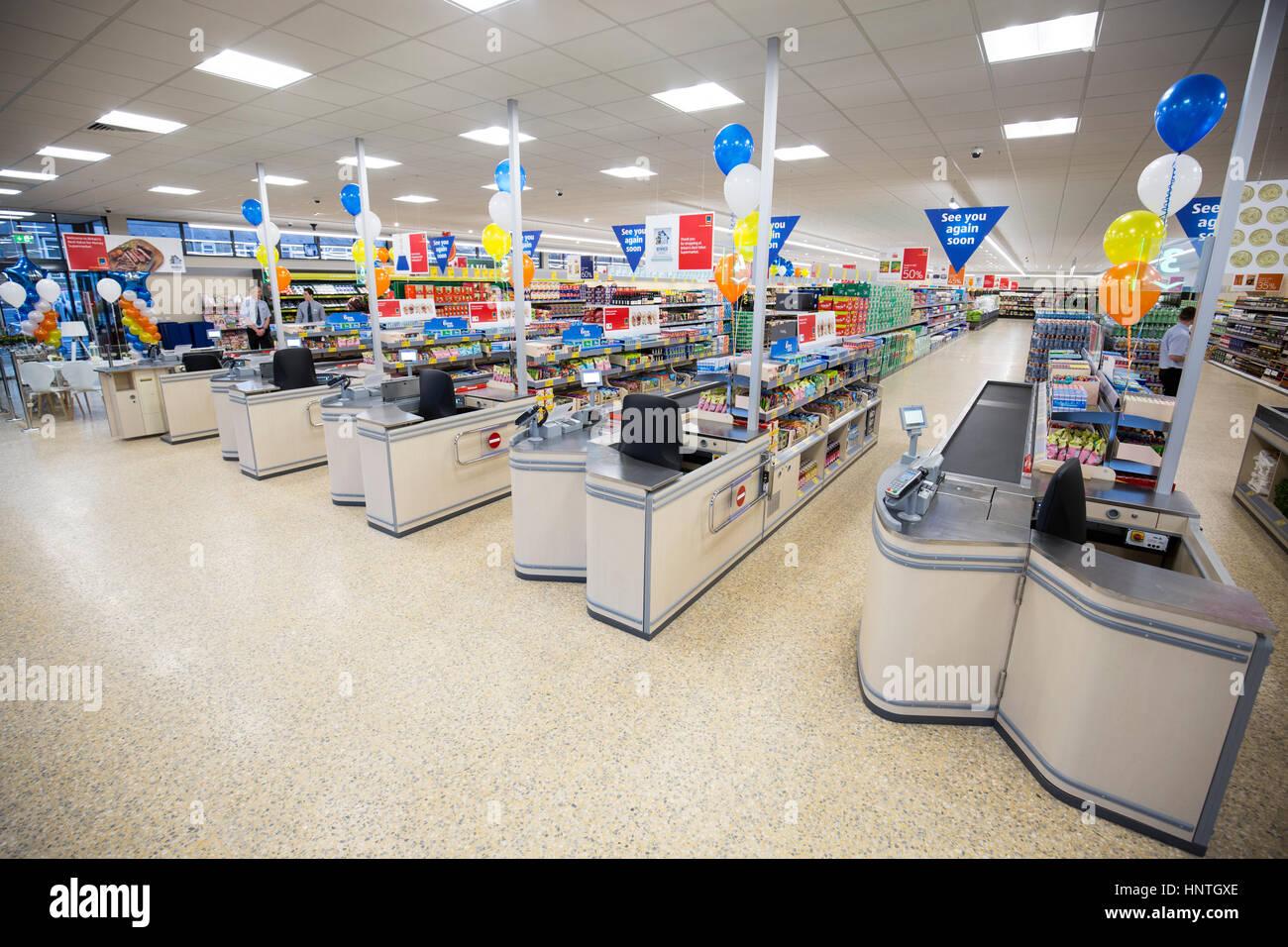 Aldi Supermarket store - Stock Image