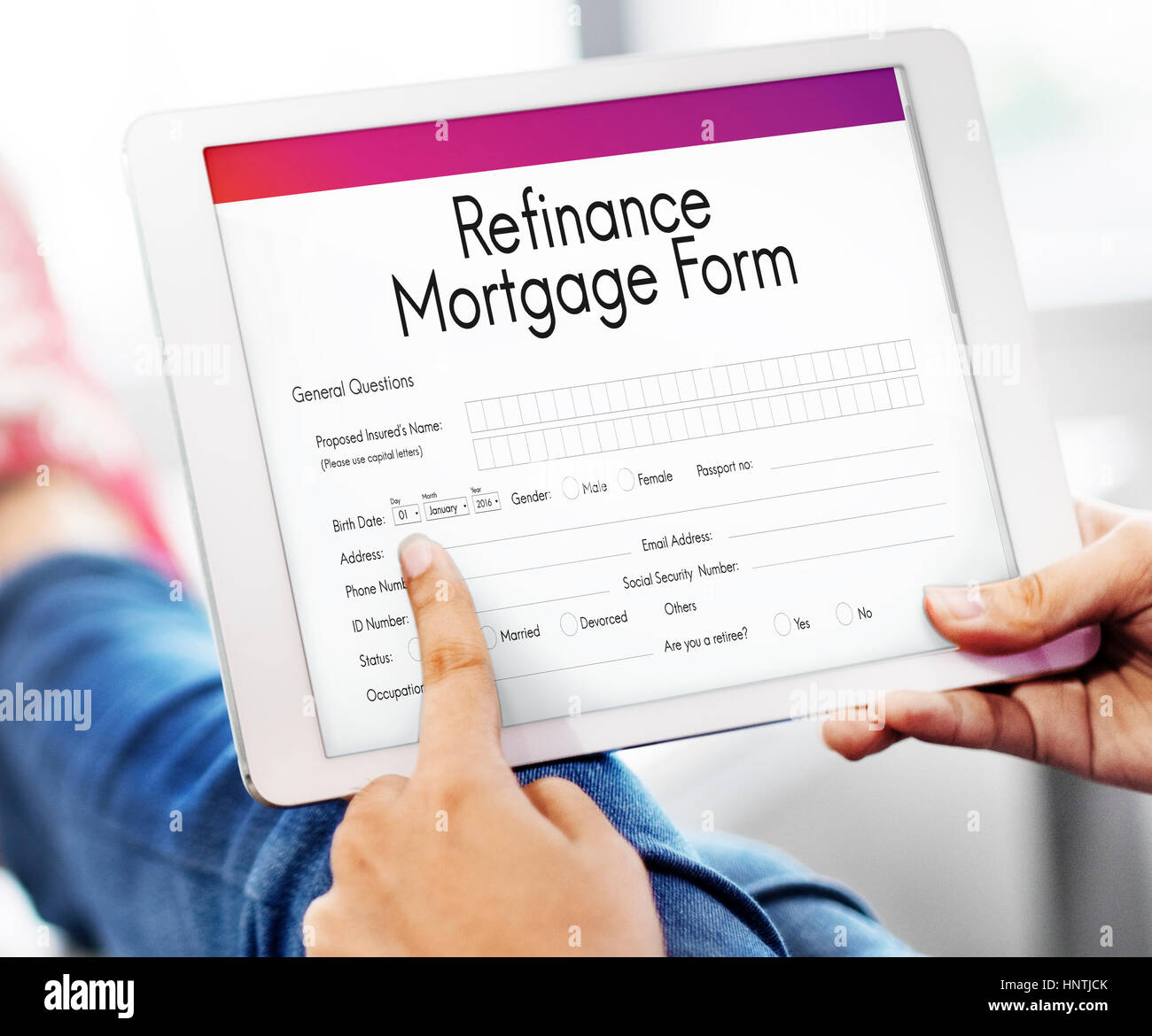 Mortgage Loan Pawn Pledge Refinance Insure Concept - Stock Image