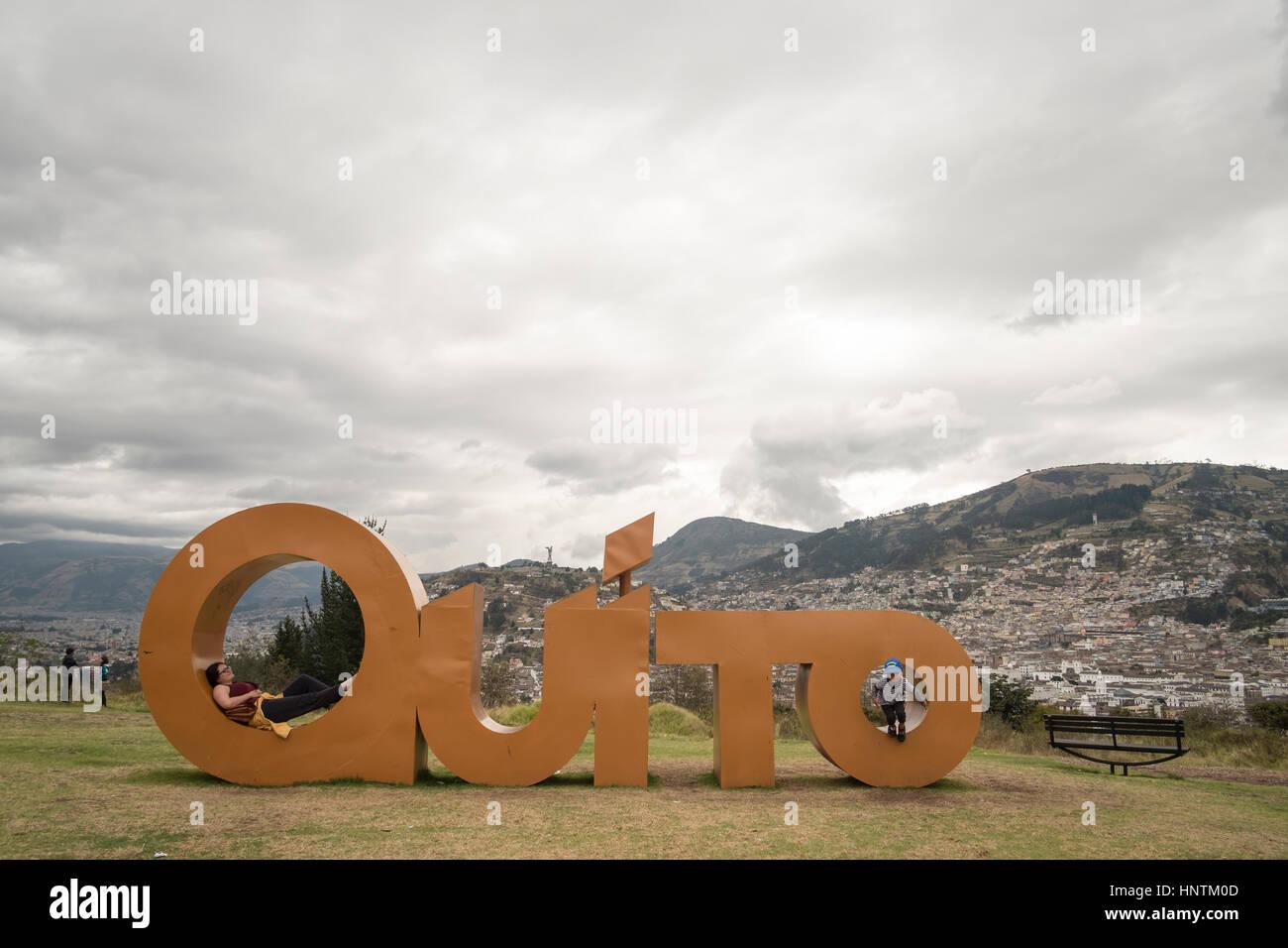 Parque Itchimbia Quito , Ecuador - Stock Image