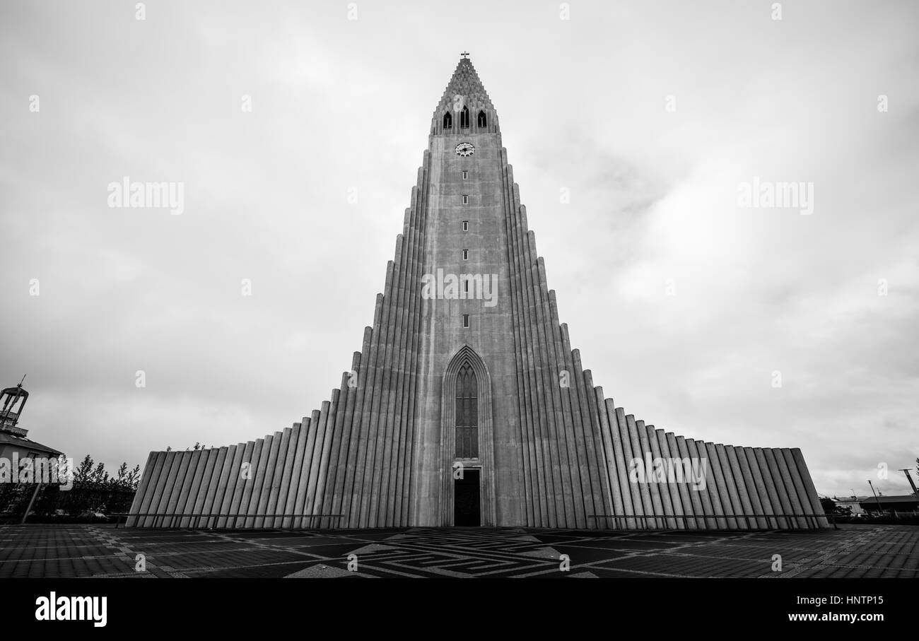 Reykjavik Lutheran church 259 Stock Photo