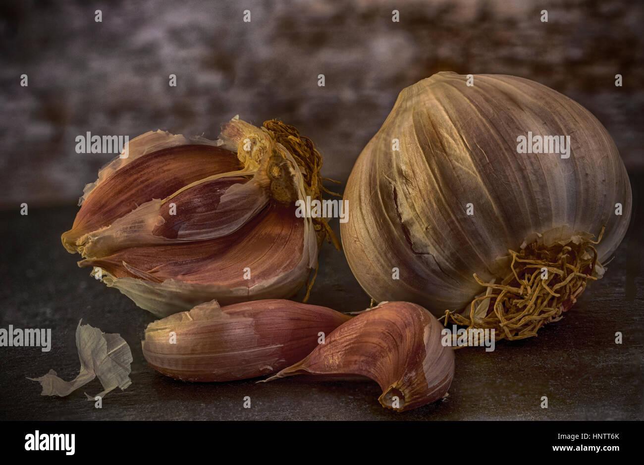 Garlic in detail - Stock Image