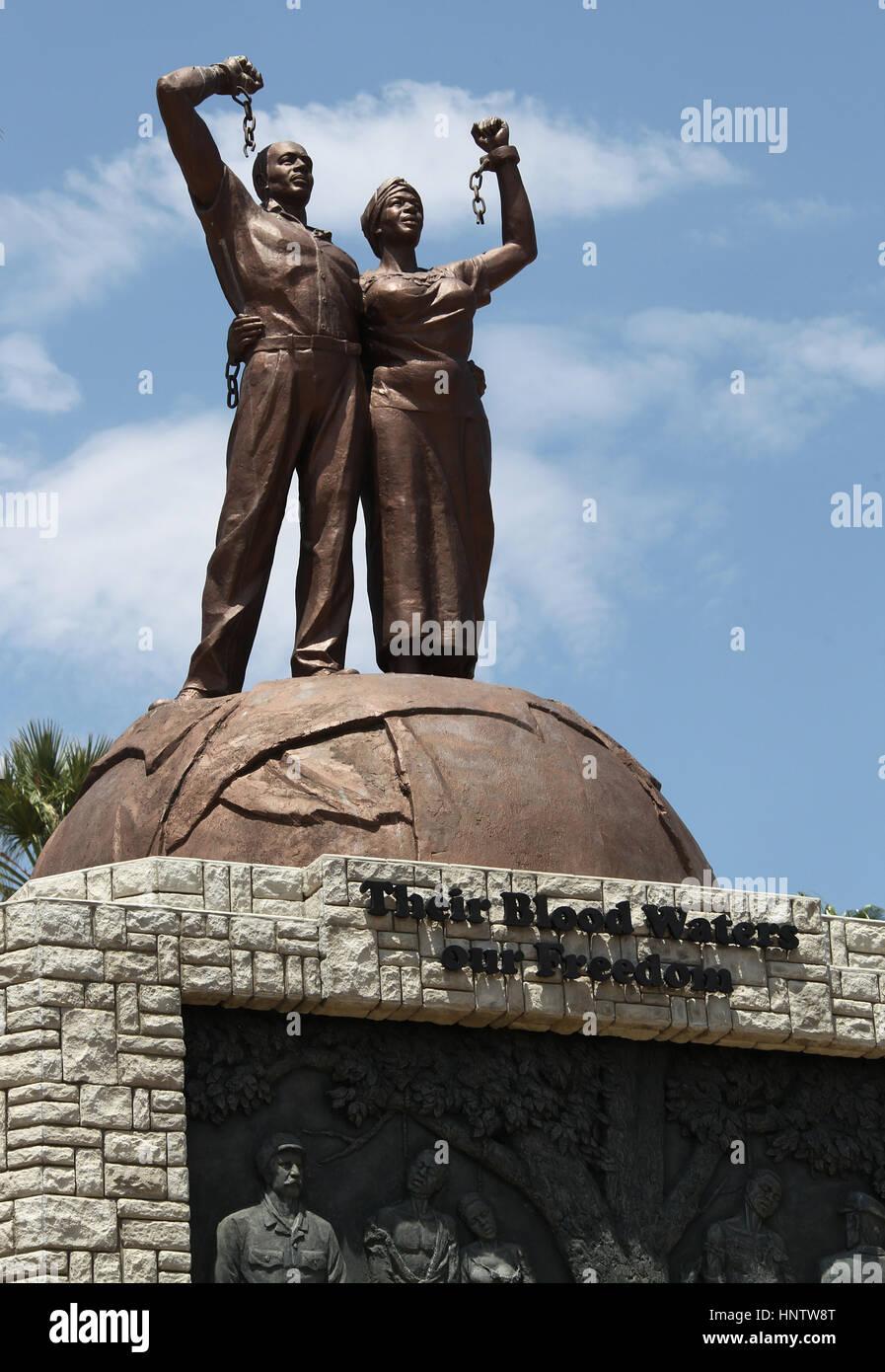 Genocide memorial at Windhoek in Namibia - Stock Image