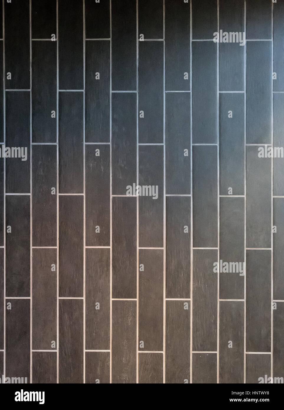 Gradient of Light Over Long Gray Tiles Vertical Background Stock ...