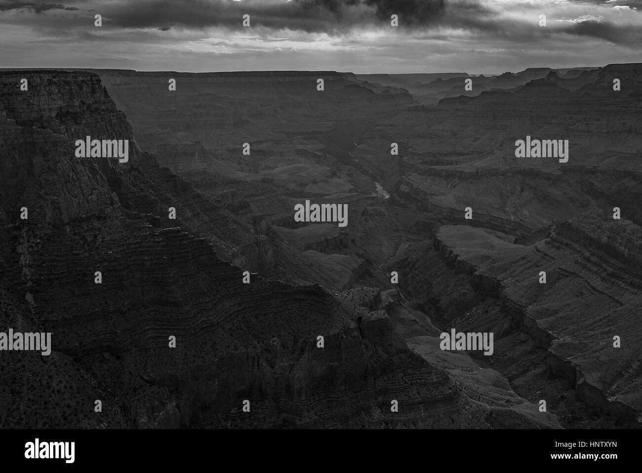 Beautiful landscape of South Rim, Grand Canyon National Park during sunset Stock Photo