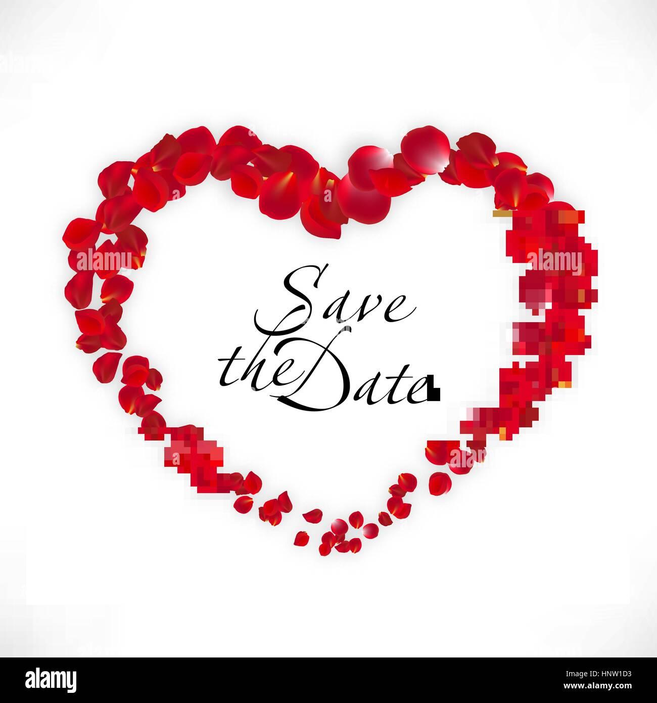4094a998c62a1 Vector wedding invitation. Inscription: Save the date. Ribbon inside ...