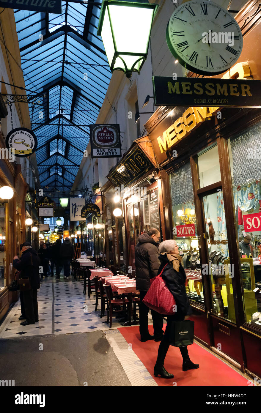 Passage Verdeau, France, Paris - Stock Image