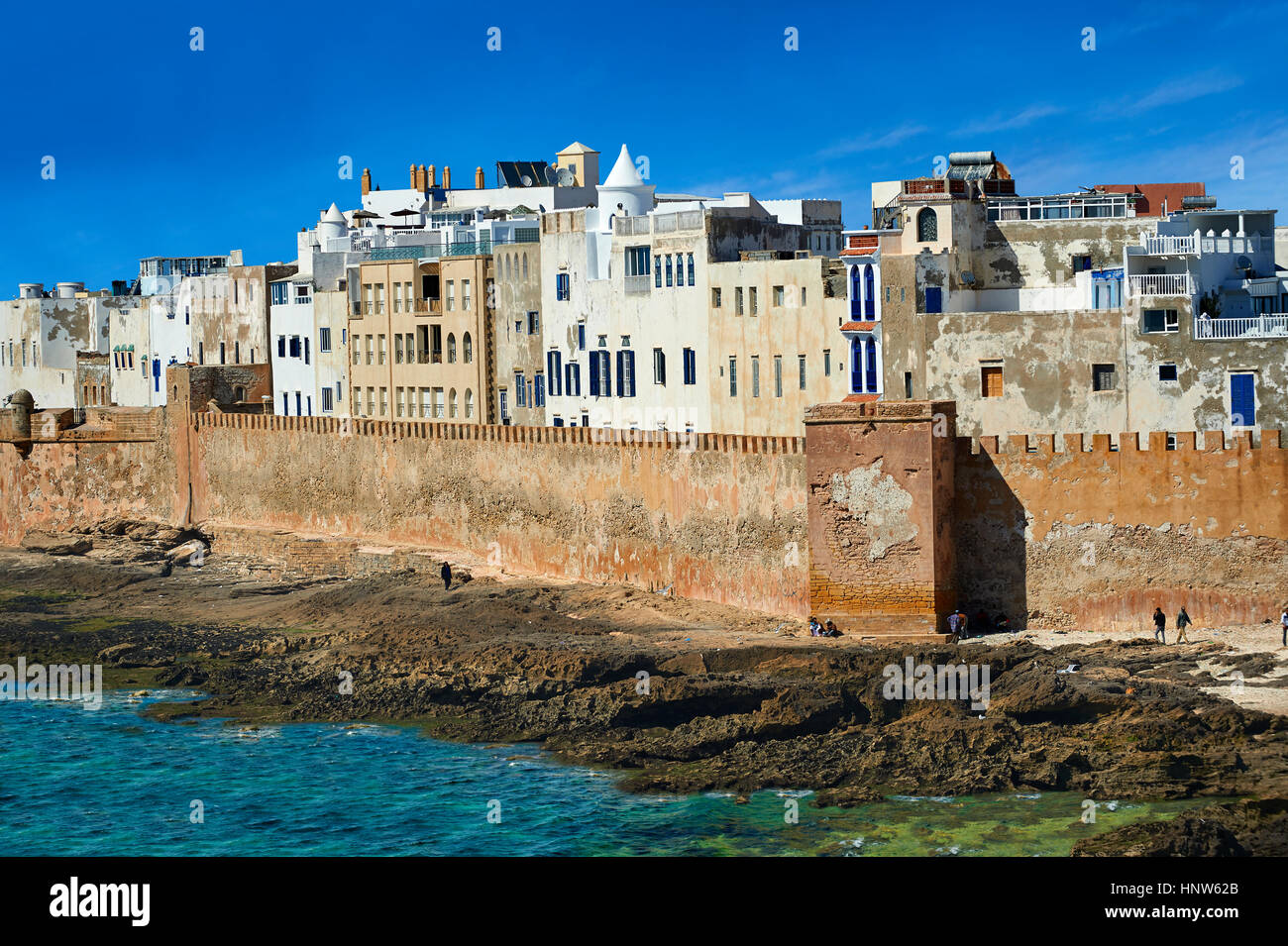 Portuguese fortifications of Mogador or Mogadore. Essaouira, Morocco - Stock Image