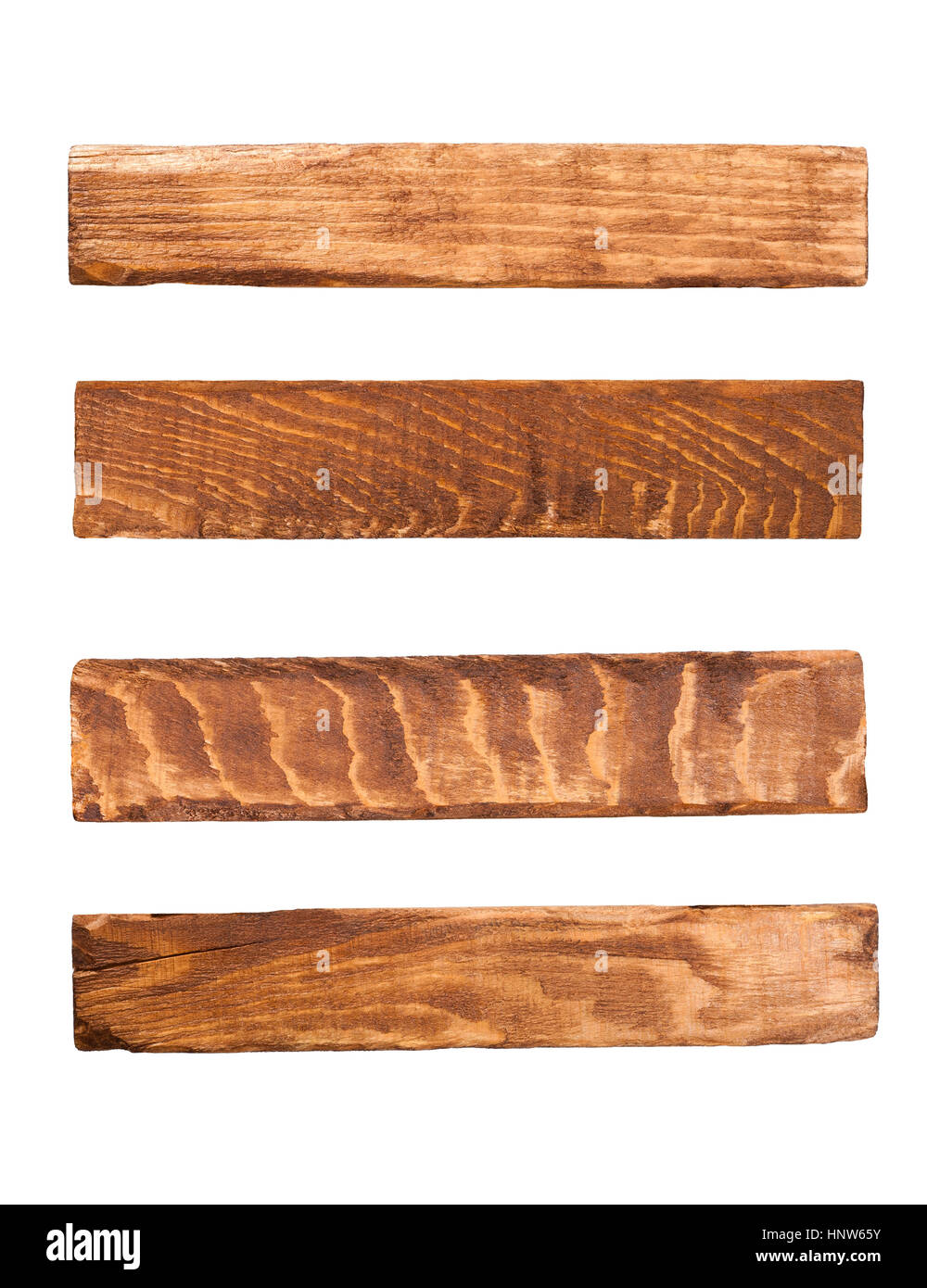 Wood panels isolated on white - Stock Image