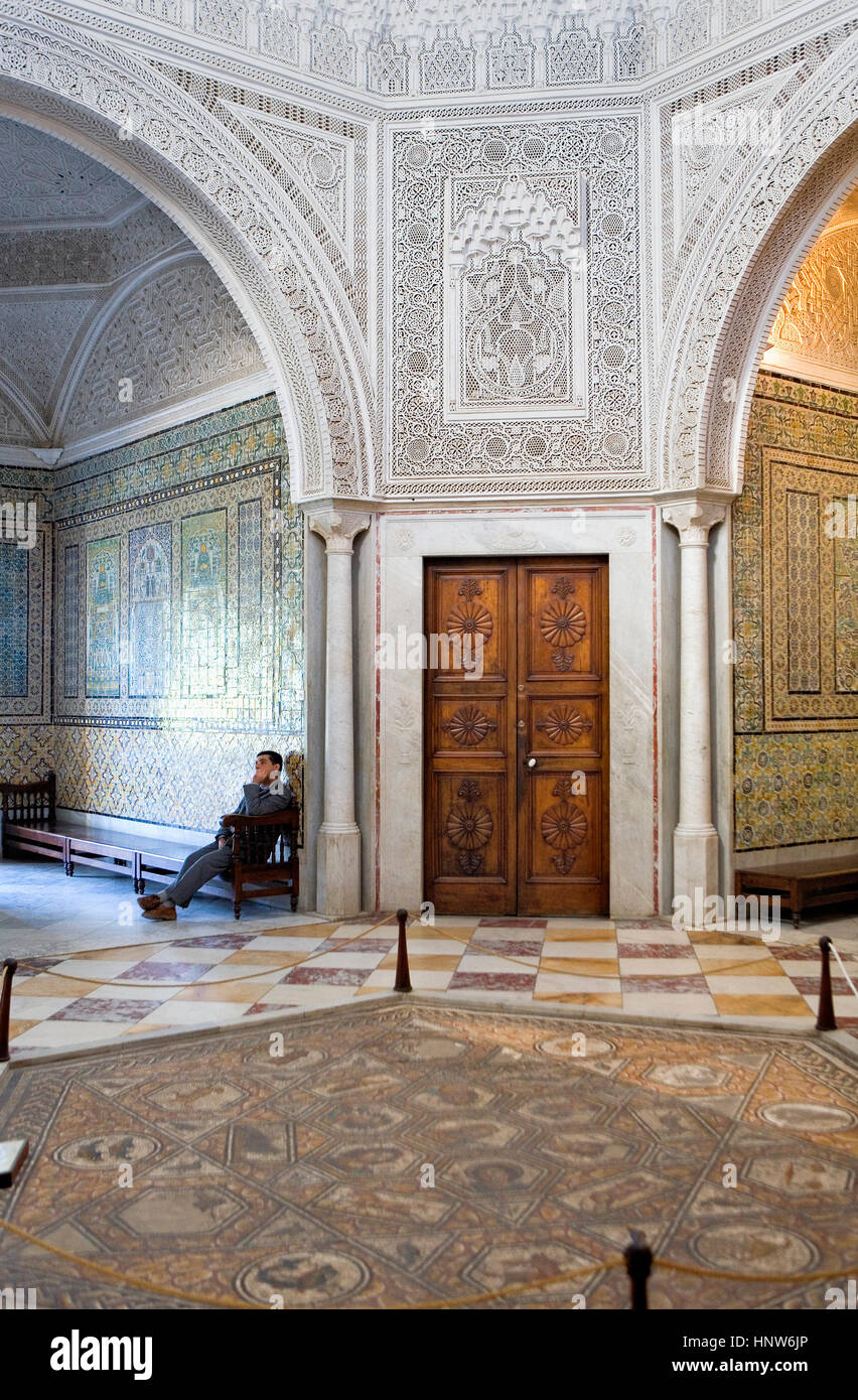 Tunisia: City of Tunis.Bardo National Museum Stock Photo