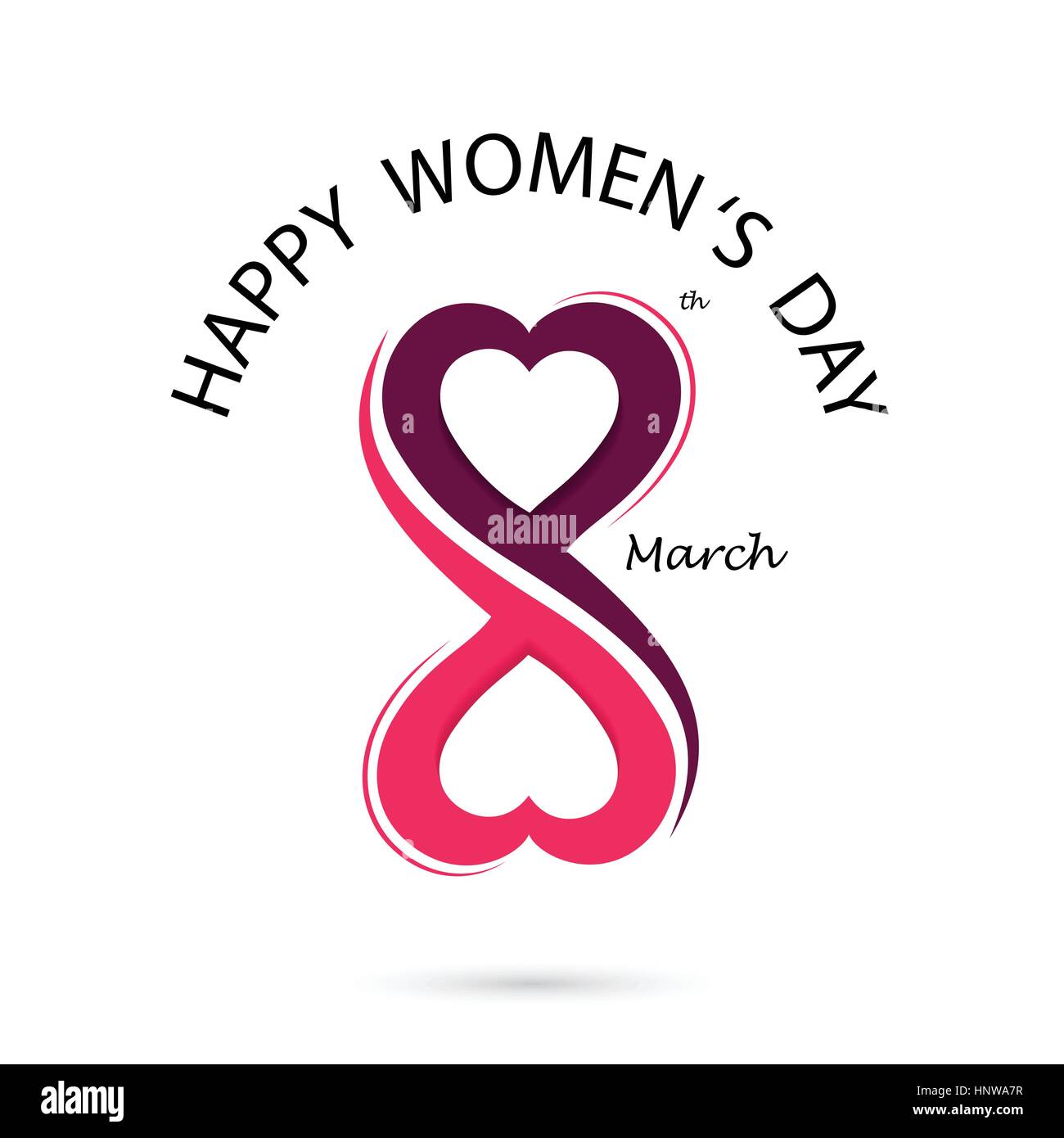 Creative 8 March Logo Vector Design With International Womens Day