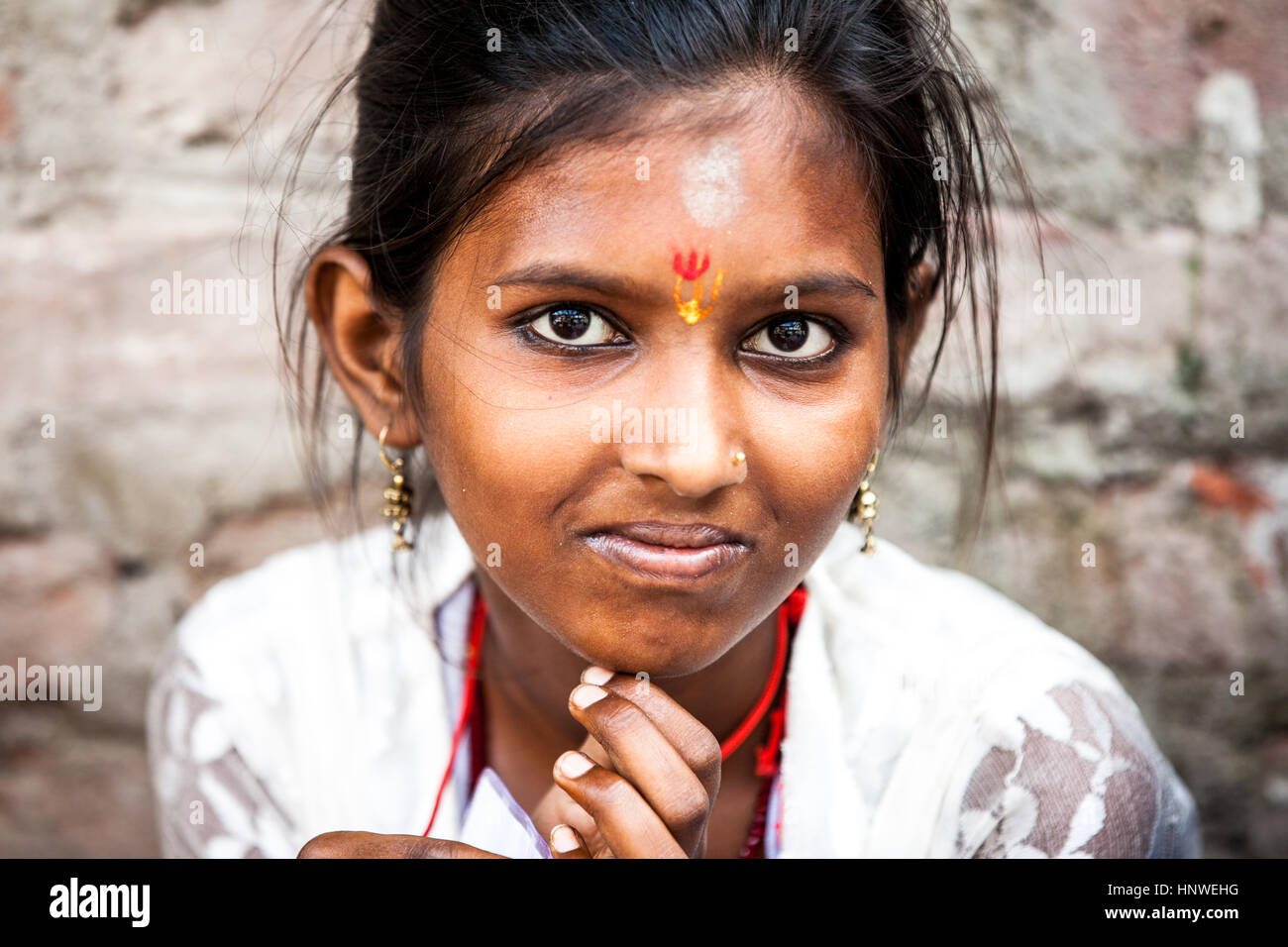 indian beauty young girl closeup stock photos & indian beauty young