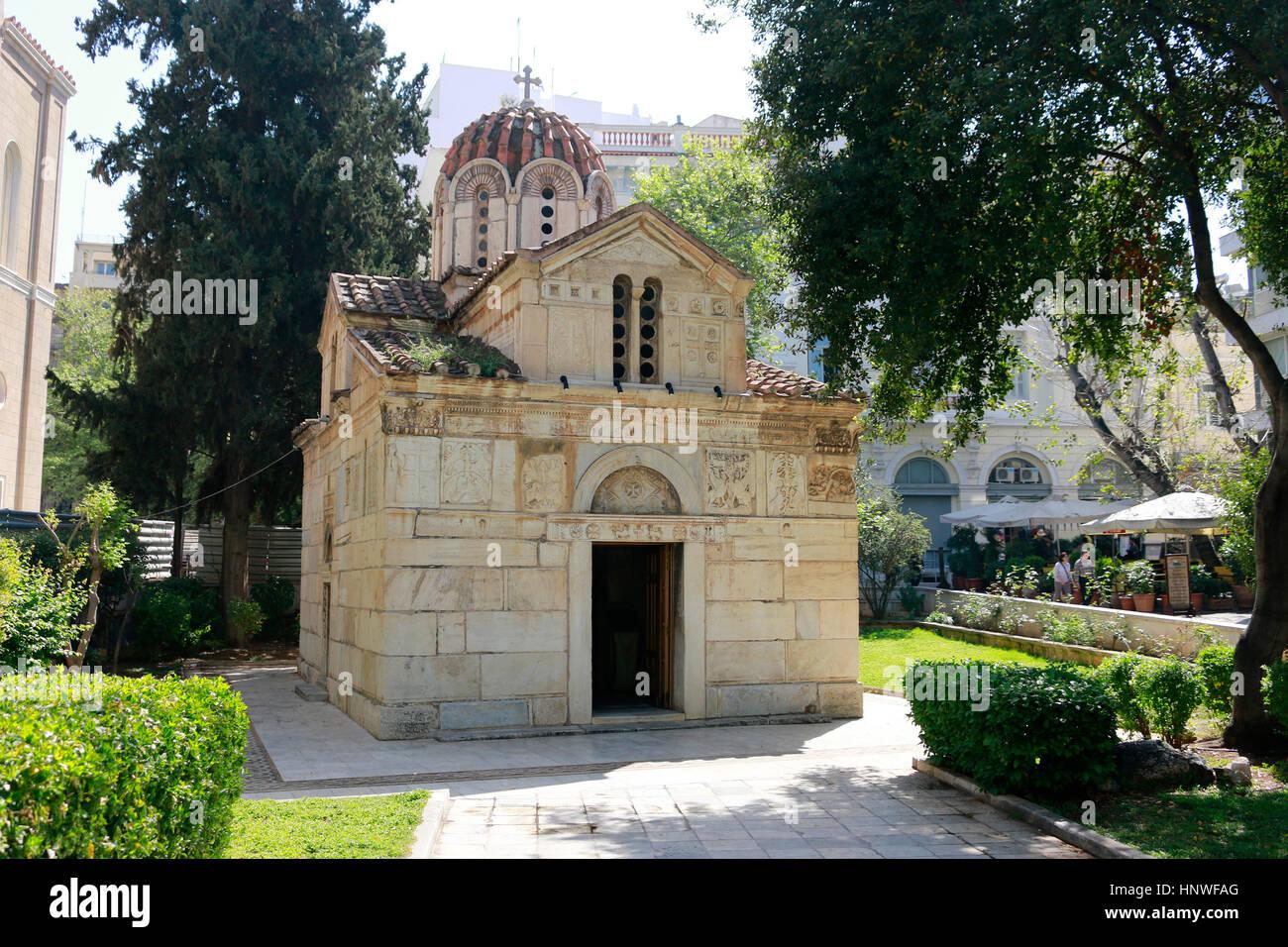 Kapnikarea-Kirche, Athen, Griechenland. Stock Photo
