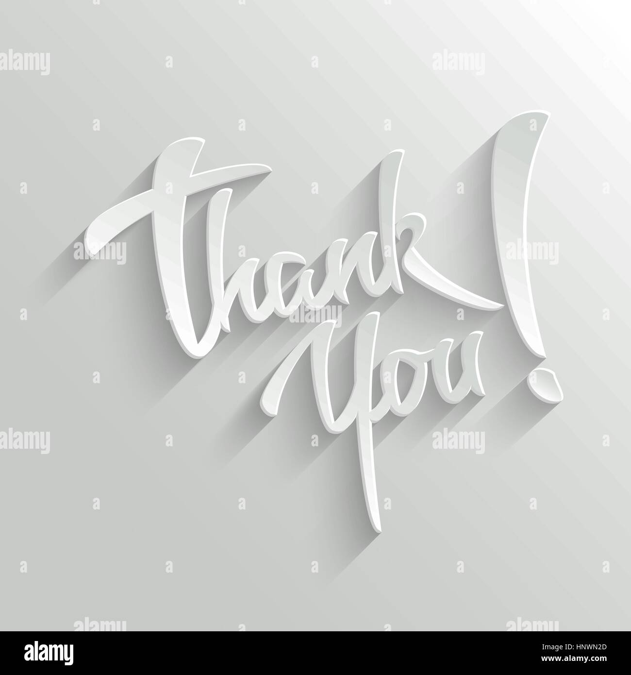 Thank You Hand lettering Greeting Card. Typographical Vector Background. Handmade calligraphy. Easy paste to any Stock Vector