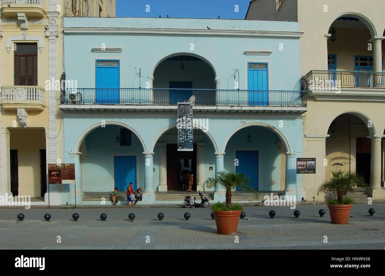 The Fototeca de Cuba, Plaza Vieja, Havana, Cuba - Stock Image