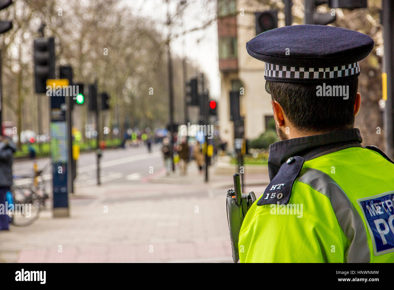 Metropolitan Police Officer - Stock Image