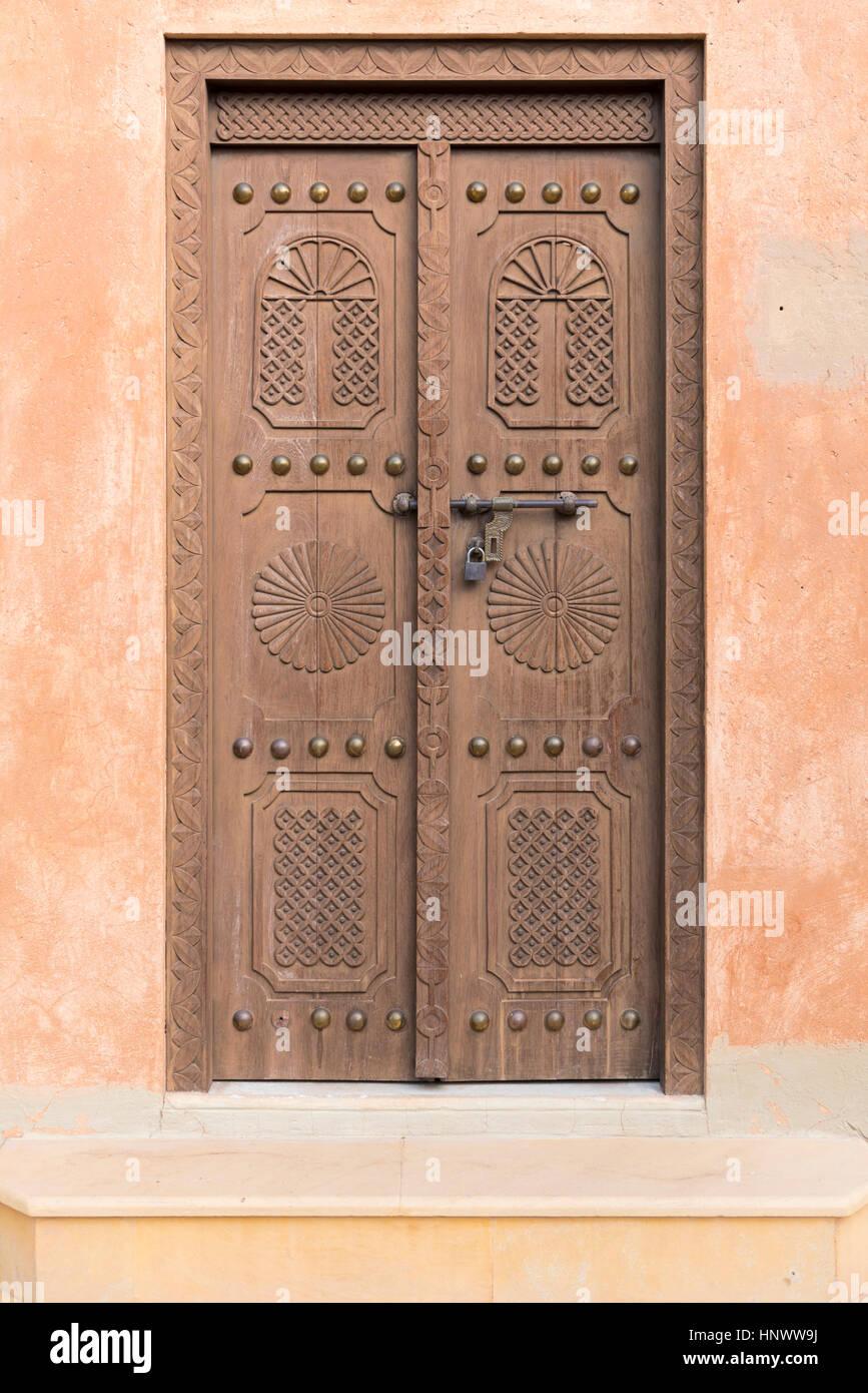 Old Carved Door Wooden Entrance Door To An Old Arabic
