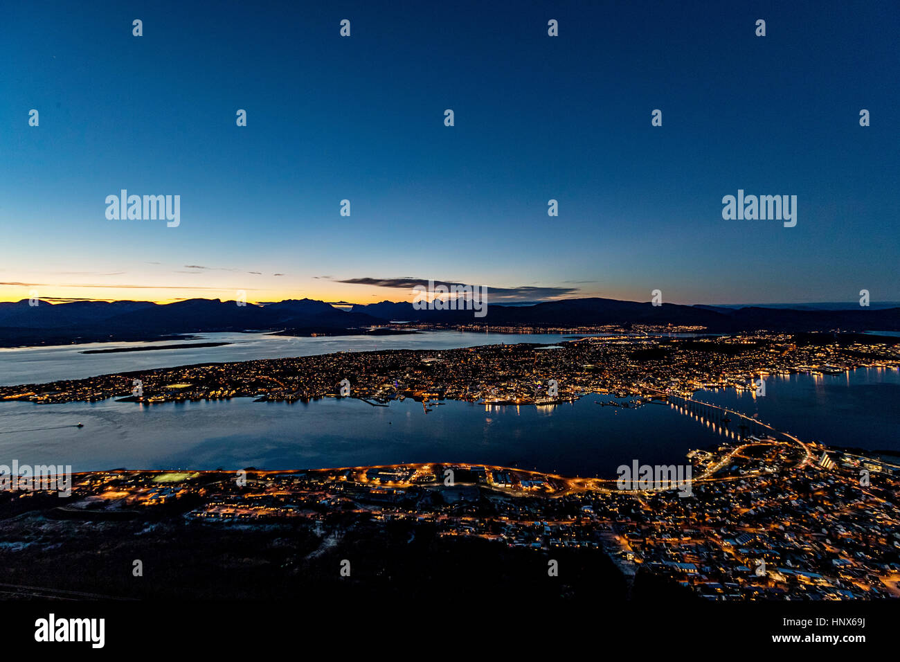 Tromso in autumn, Arctic Norway - Stock Image