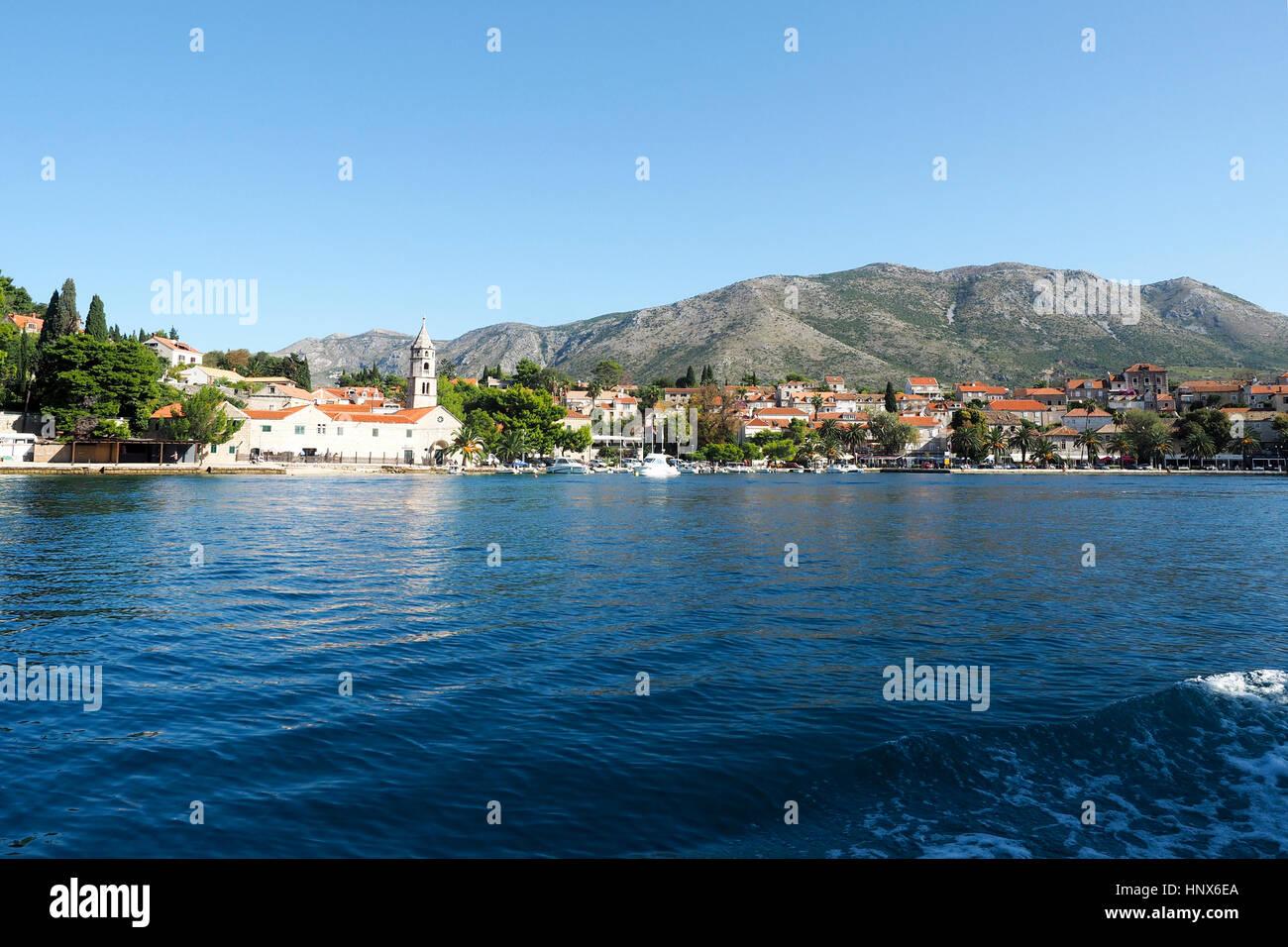 Cavtat, on the Adriatic Sea coast, Croatia - Stock Image