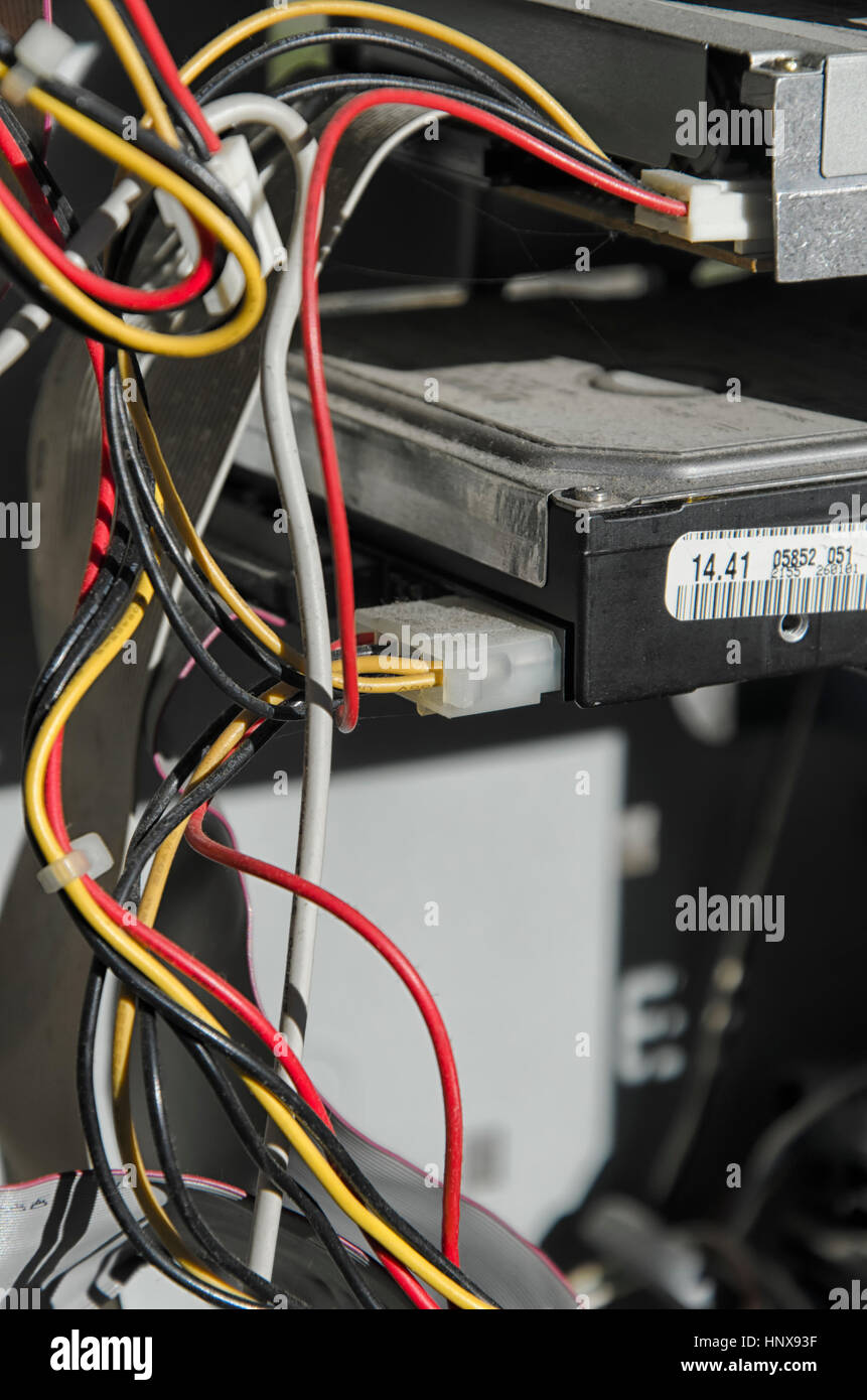 Old Computer Wires   View Electrical Wires Old Computer Stock Photos View Electrical
