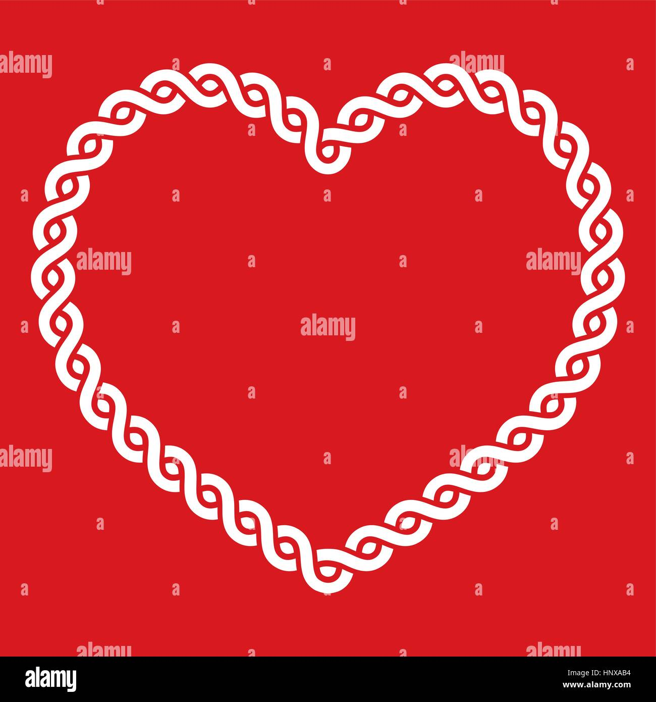 Celtic knot pattern red heart shape - love concept for St Patrick\'s ...