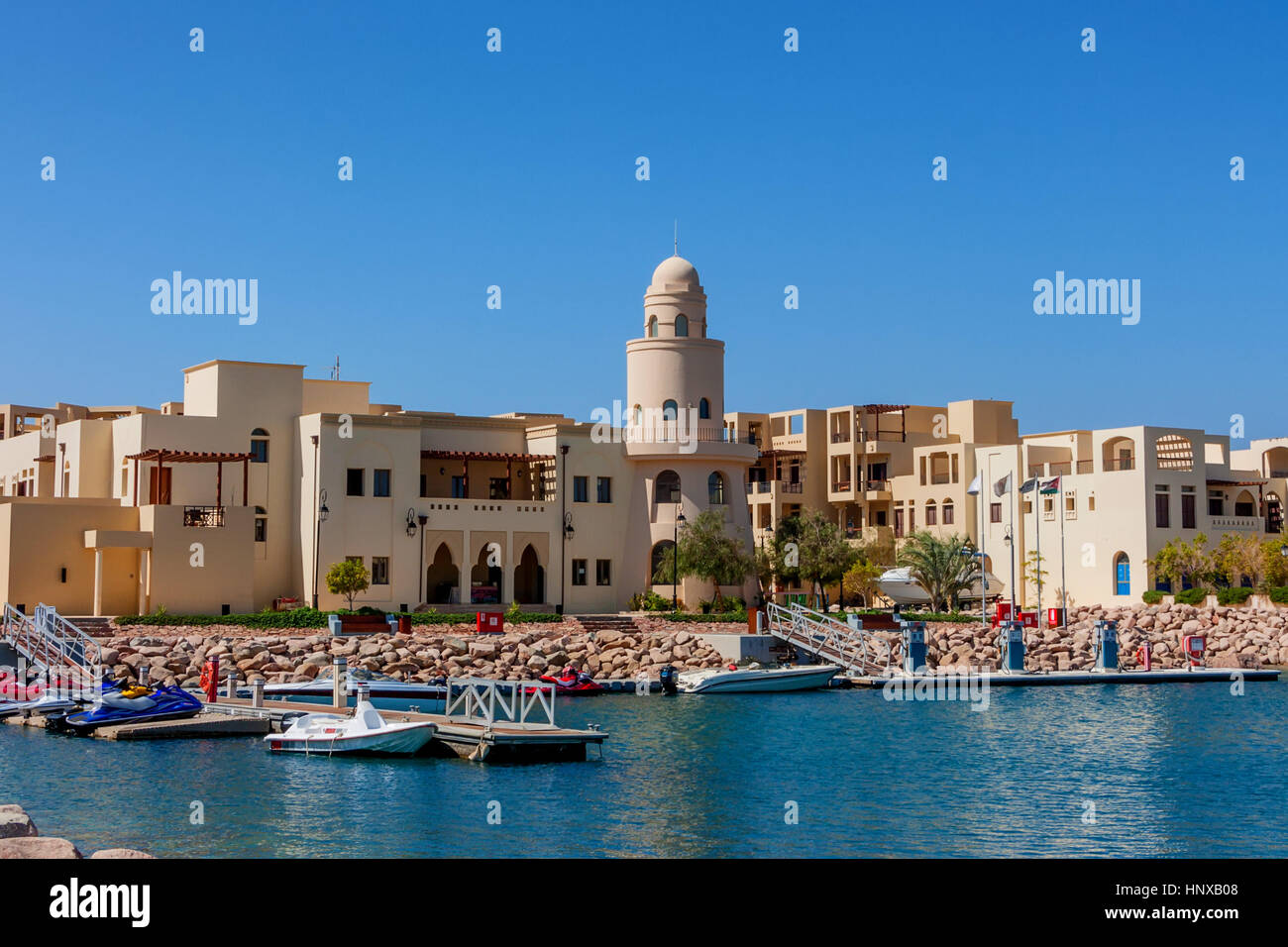 Boats in Tala Bay, Aqaba, Jordan - Stock Image
