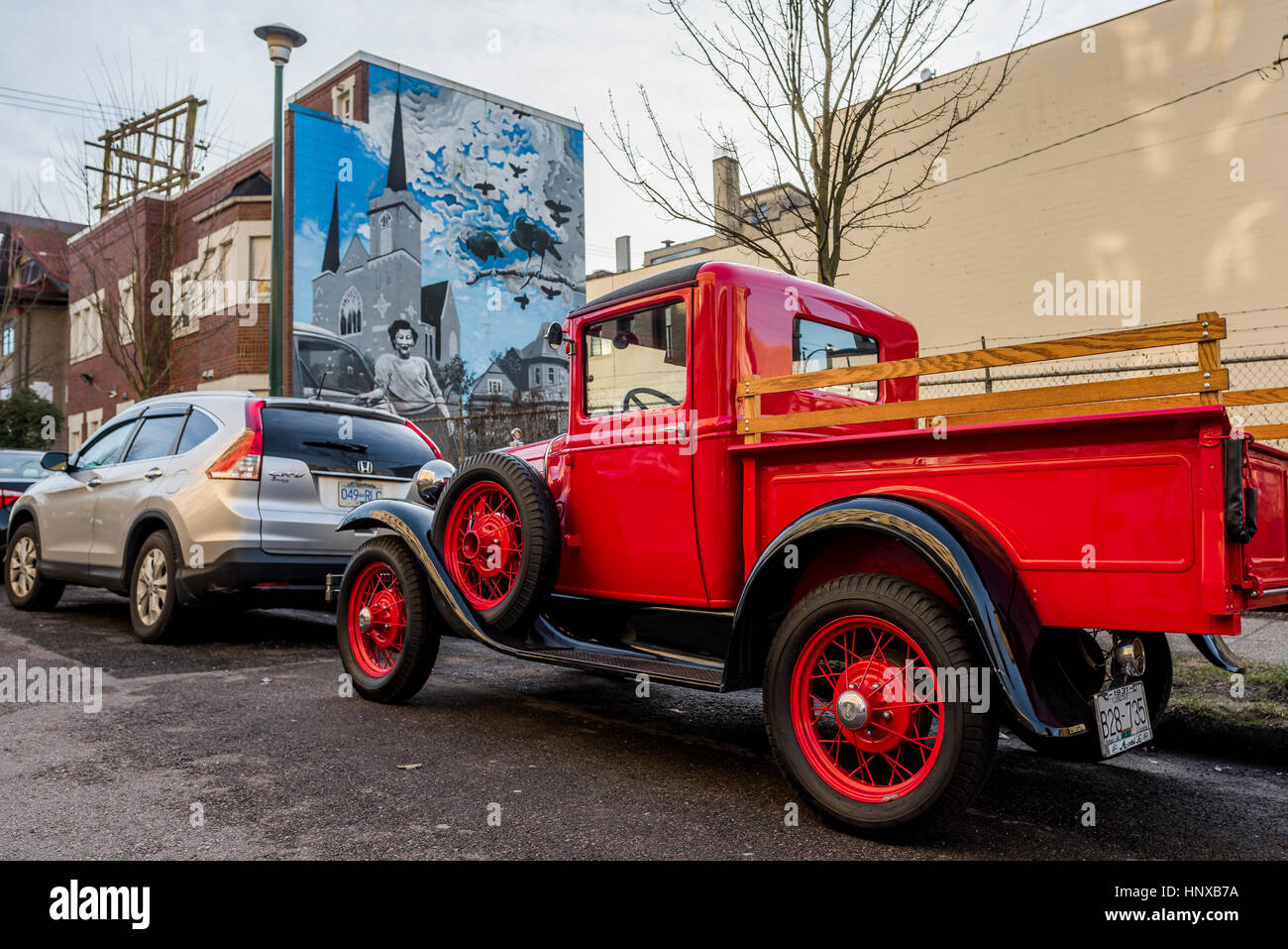 Old Restored Model Ford Truck Stock Photos & Old Restored Model Ford ...
