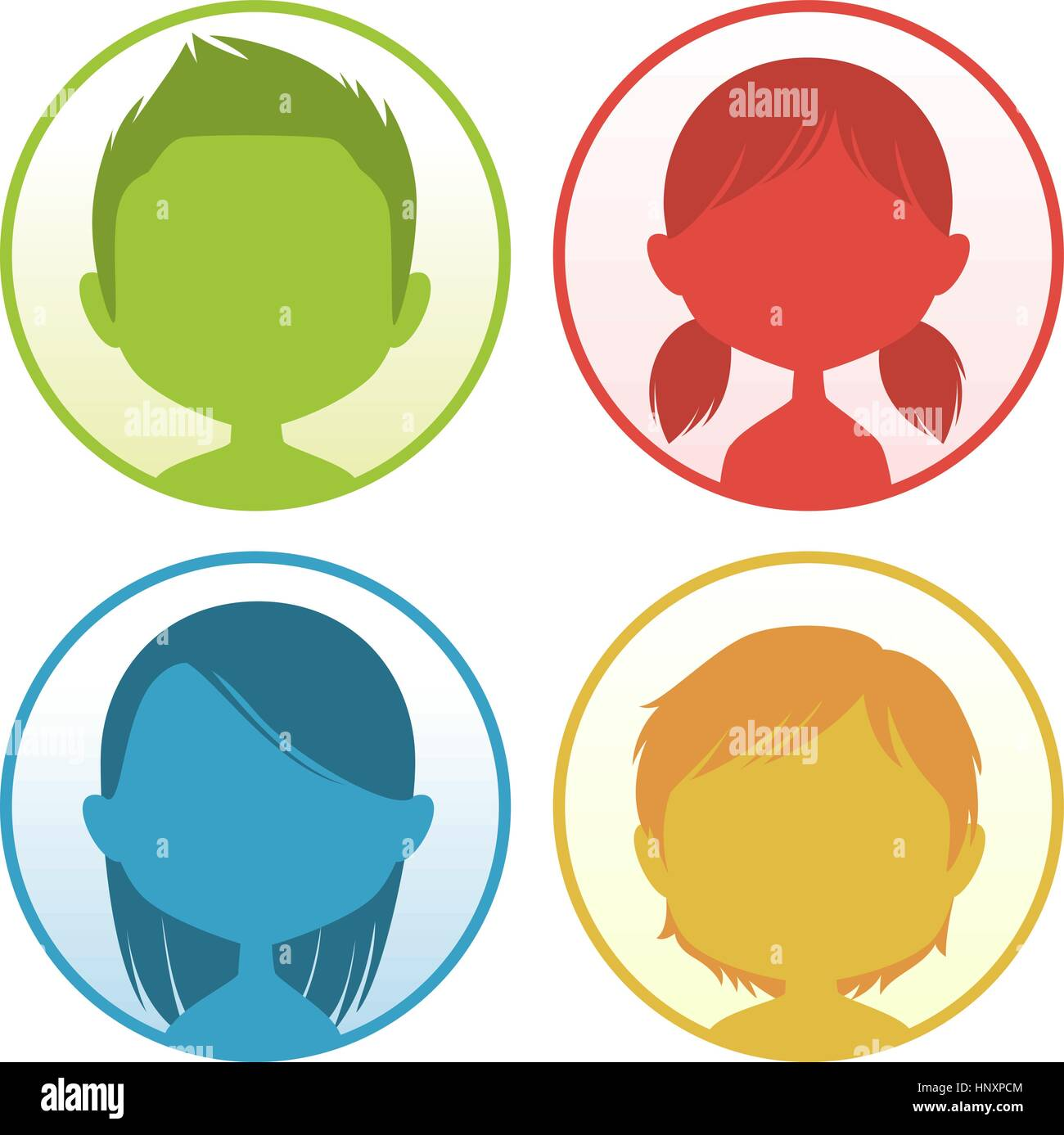Head and Shoulder People Avatar Profile vector illustration. - Stock Vector