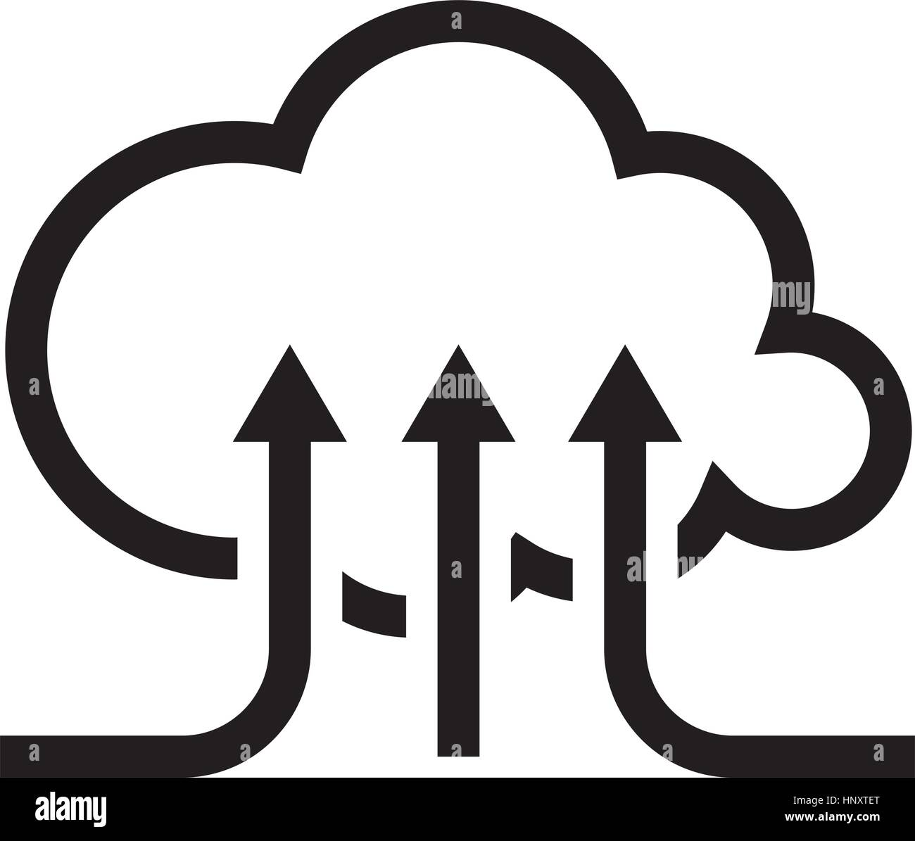 Online Cloud Services. Flat Design Icon. Stock Vector