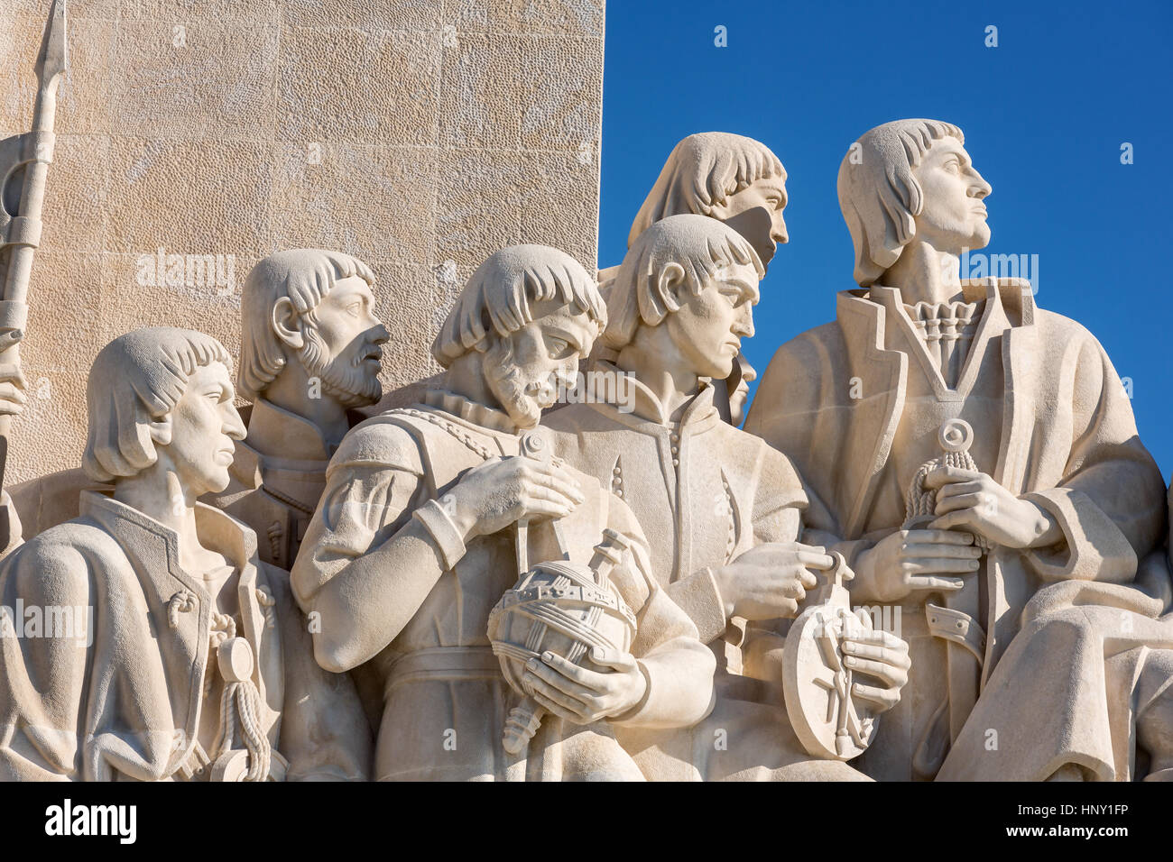 Monument to the Discoveries, Padrao dos Descobrimentos, Belem, Lisbon, Portugal - Stock Image