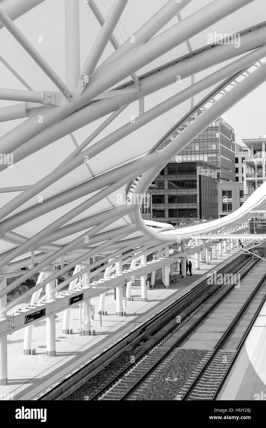 Denver, Colorado, USA-June 11, 2016. Renovated Union Station in Downtown Denver, Colorado. Stock Photo
