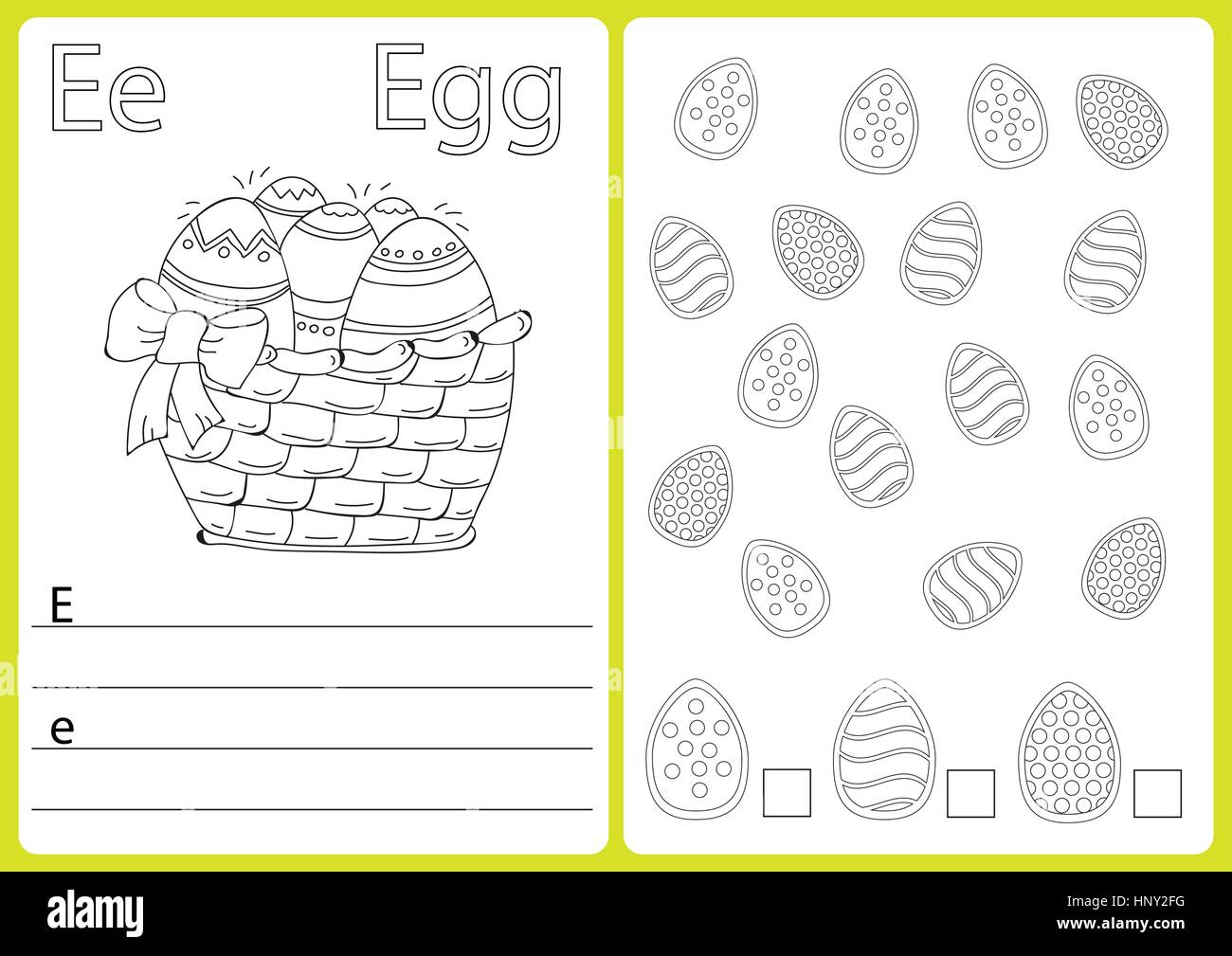 School Exercises Stock Vector Images - Alamy