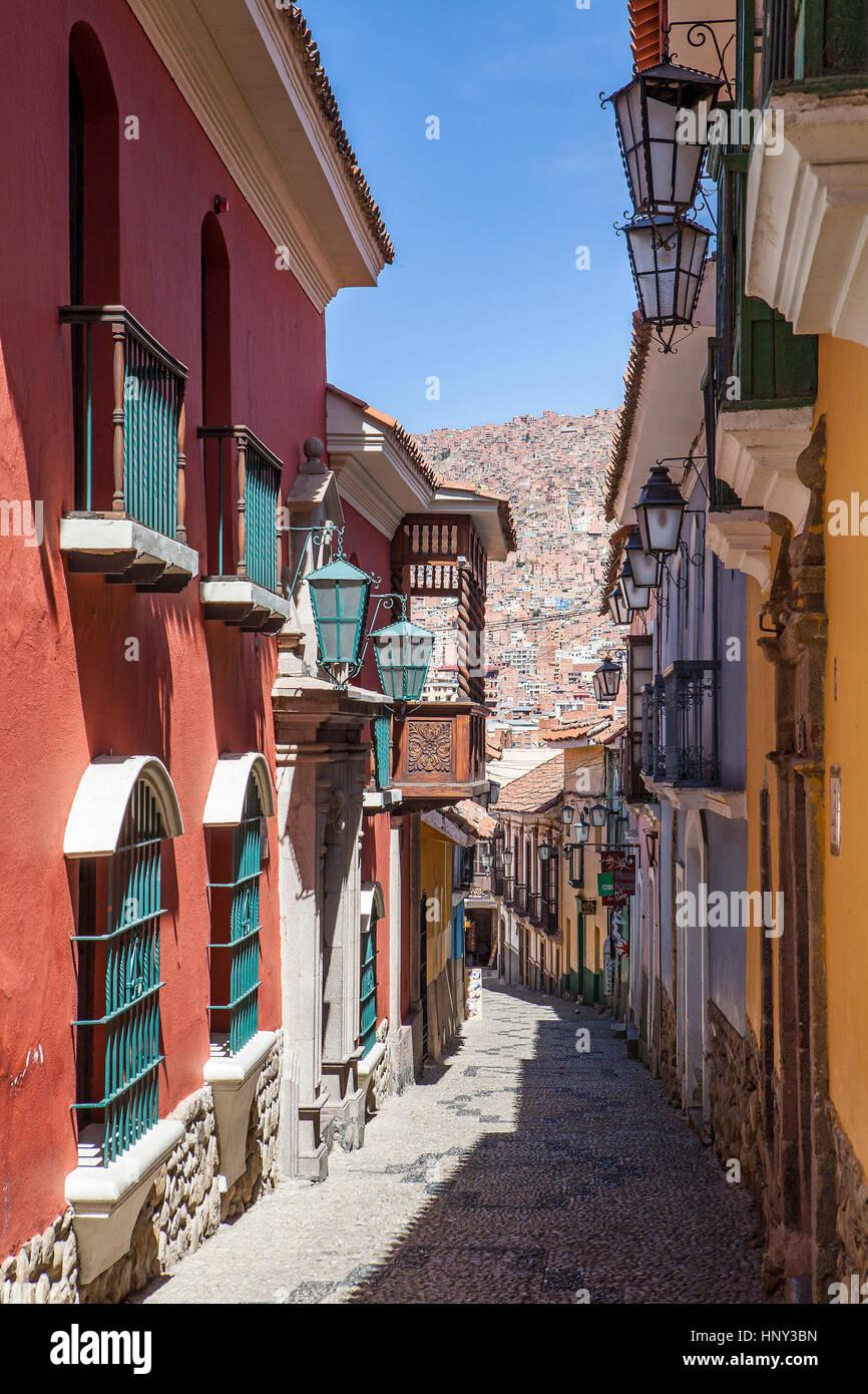 Calle Apolinar Jaen, La Paz, Bolivia - Stock Image