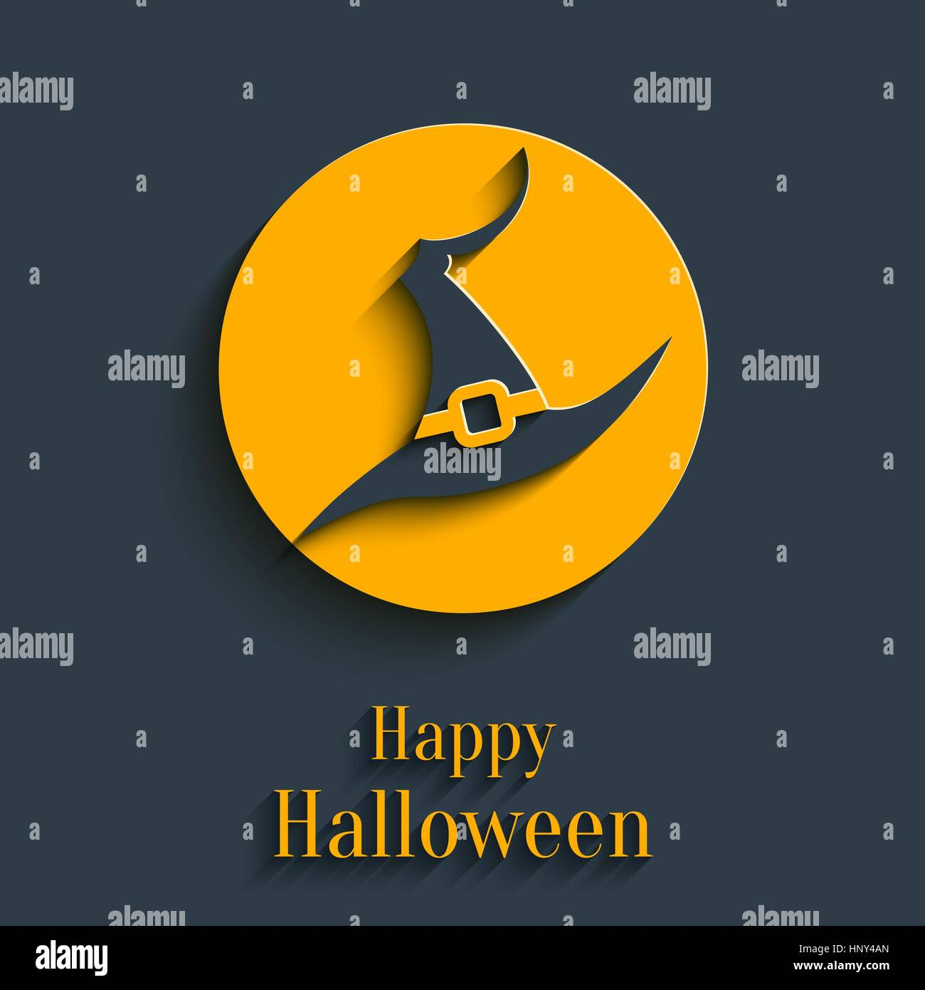 design template for greeting card banner for halloween party in
