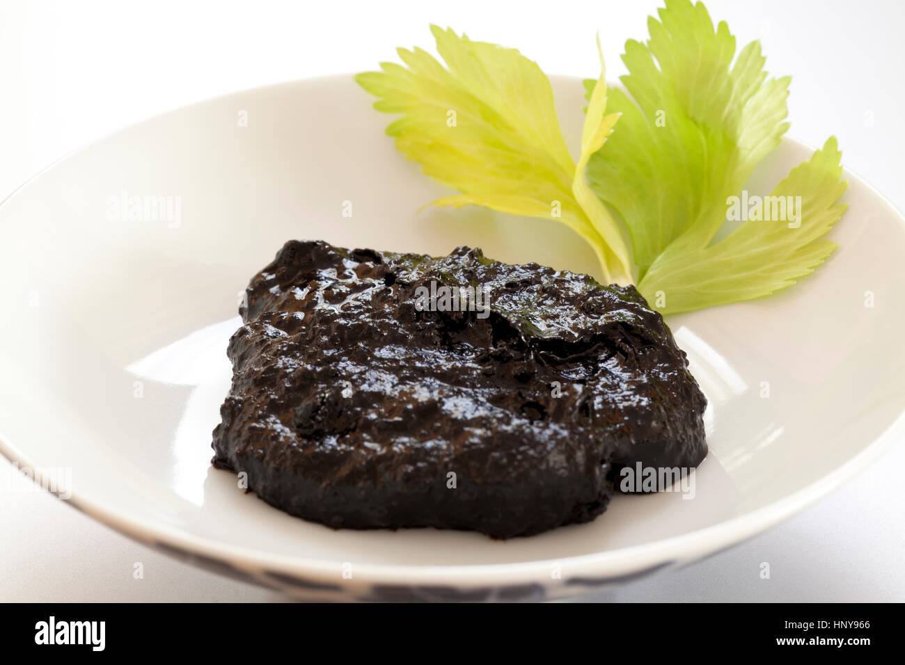 Fermented blacksoybean sauce (Douchi) - Stock Image