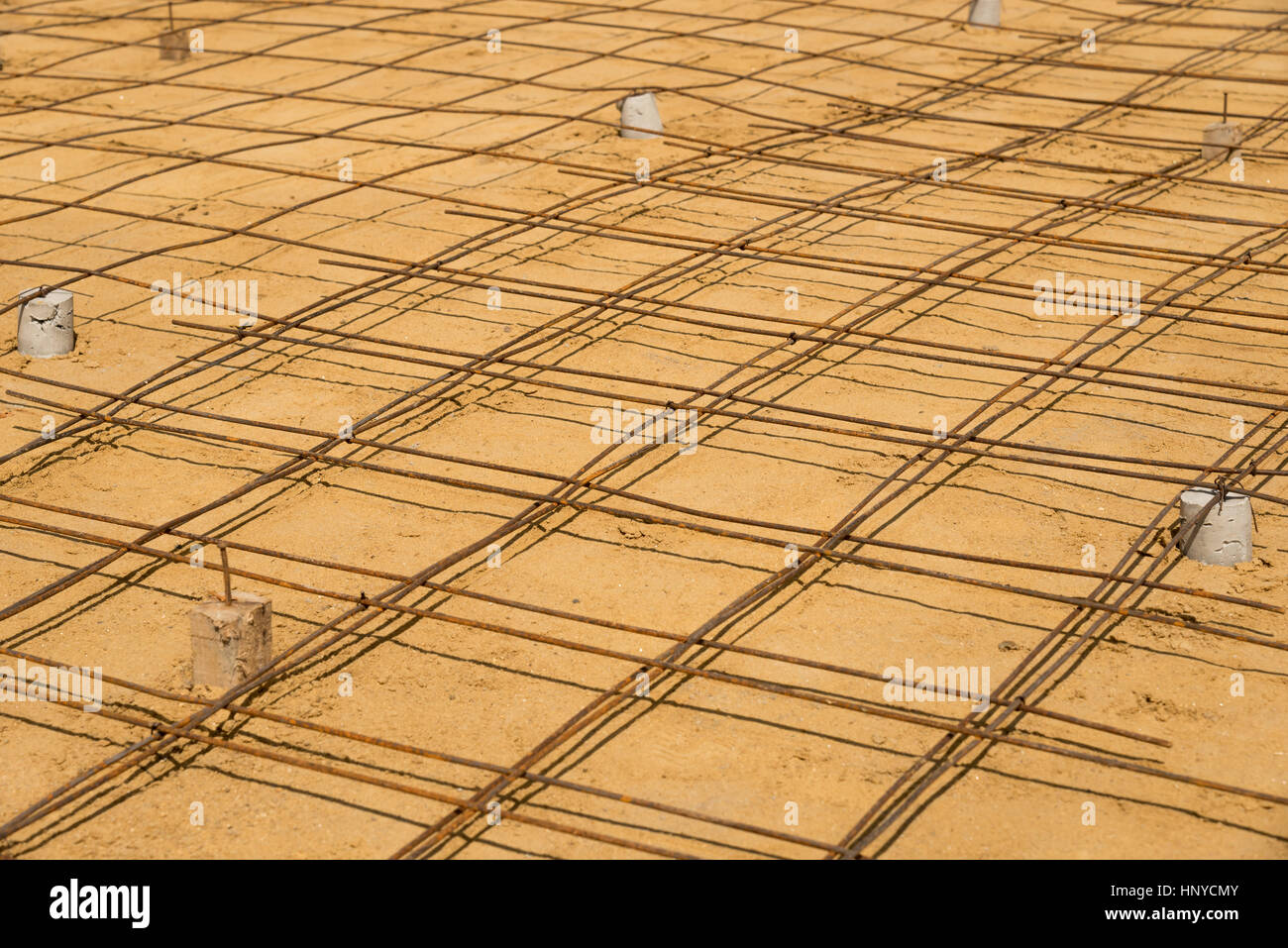 The steer wire mesh for concrete floor in construction job