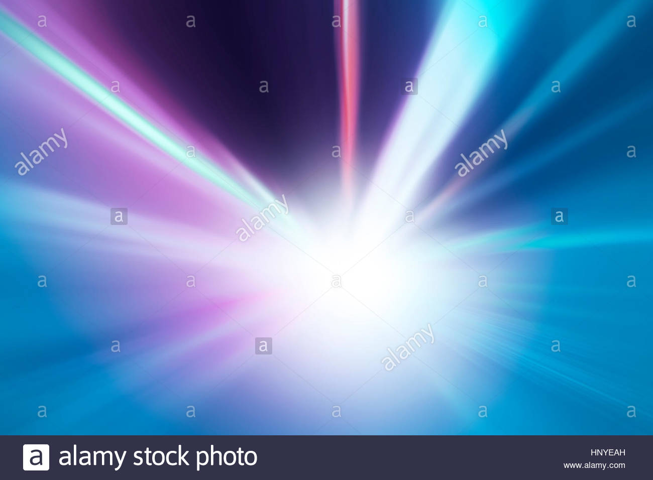Abstract tunnel bright color lights acceleration speed motion blur. Motion blur visualizies the speed and dynamics. - Stock Image