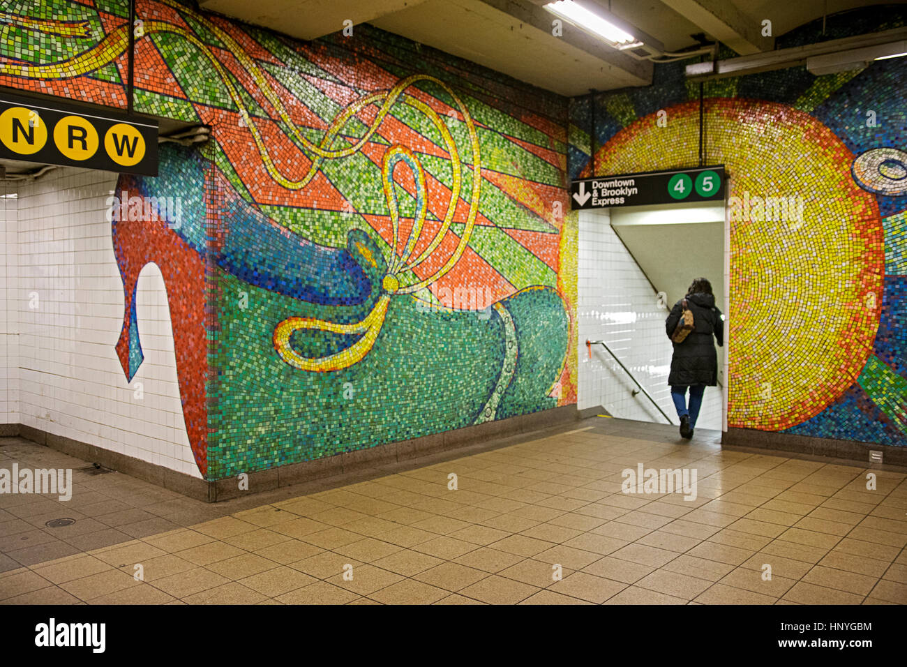 Subway Mosaic Art At The 59th Street Station On Upper East Side Of Manhattan New York City