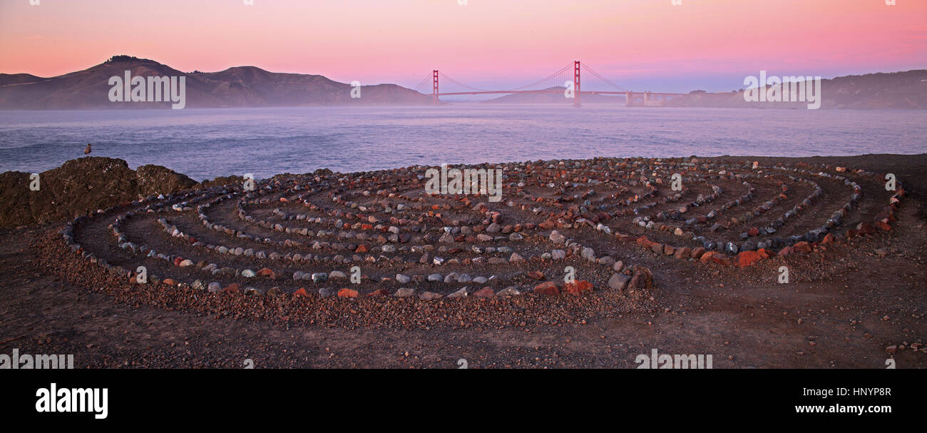 Lands End in San Francisco California - Stock Image