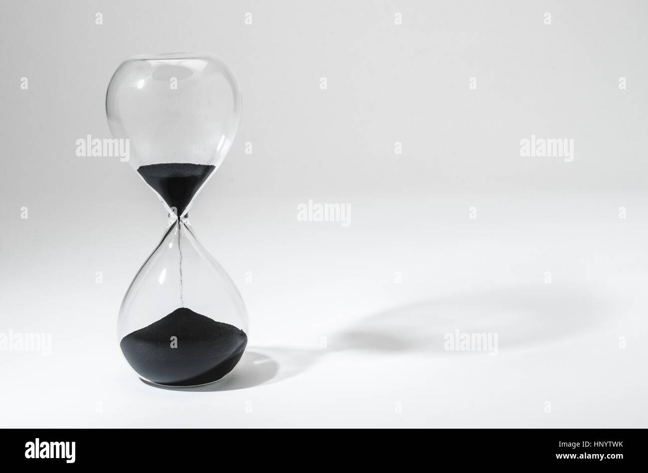 Hourglass With Time Running Out - Stock Image