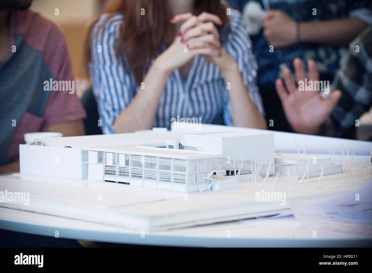 Model building in architecture office - Stock Image