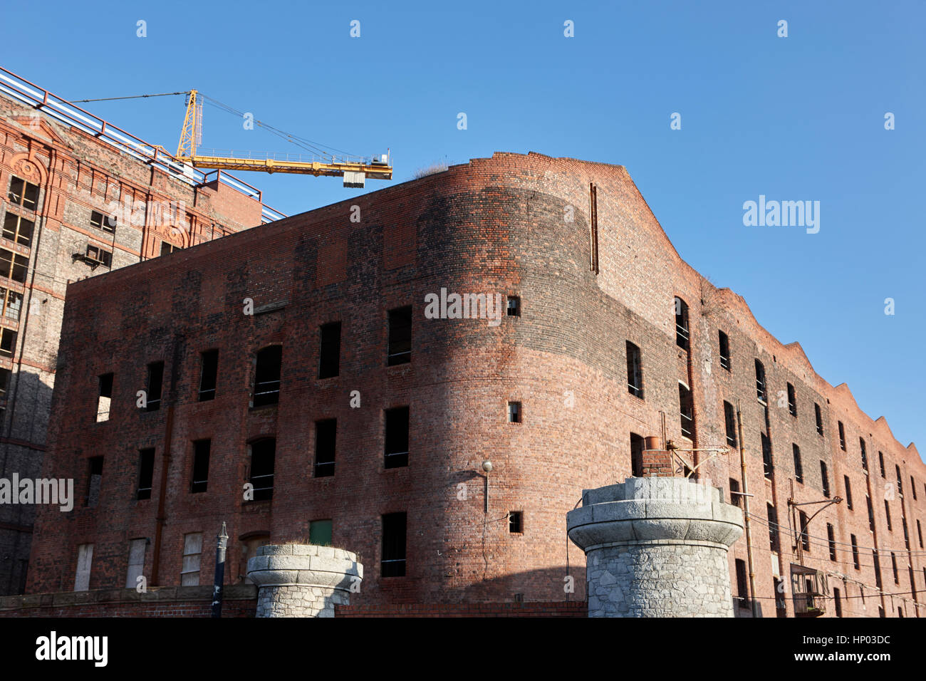 stanley dock tobacco warehouse liverpool's heritage market  uk the worlds largest brick warehouse currently undergoing Stock Photo