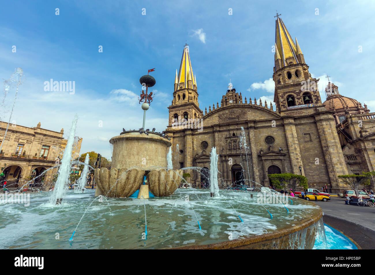 Stock Photo - Cathedral in historic center in Guadalajara