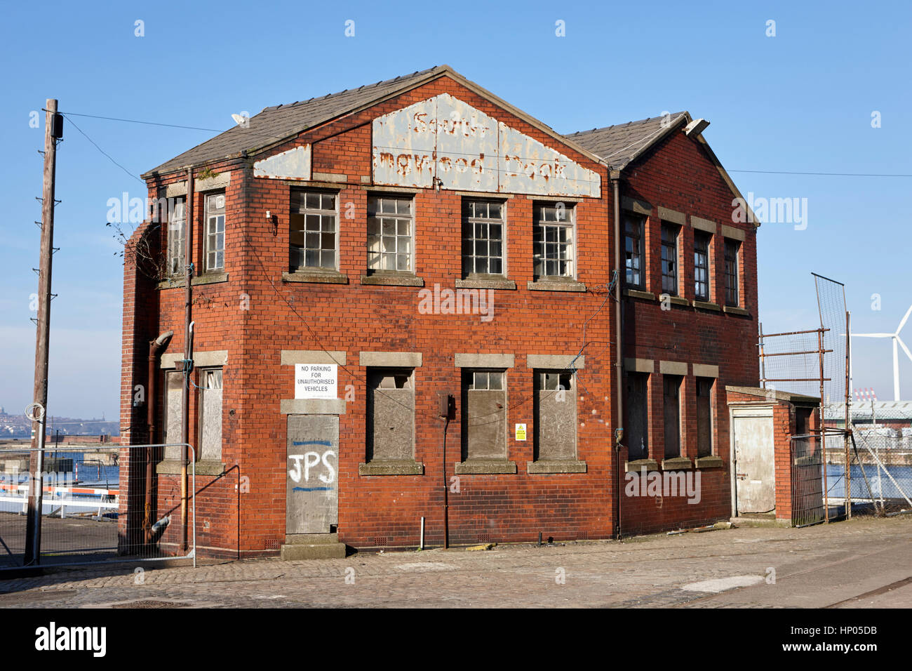 old building south collingwood dock liverpool docks dockland uk Stock Photo