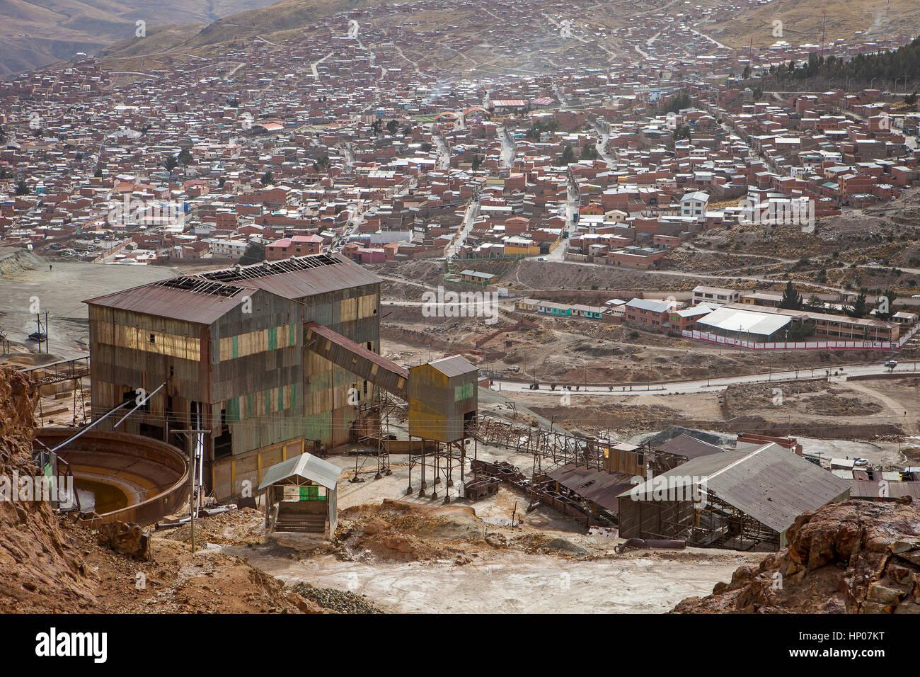 Pailaviri mine in  Cerro Rico, Potosi, Bolivia - Stock Image
