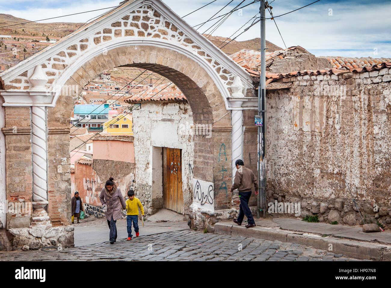 Arco de Cobija, Potosi, Bolivia - Stock Image