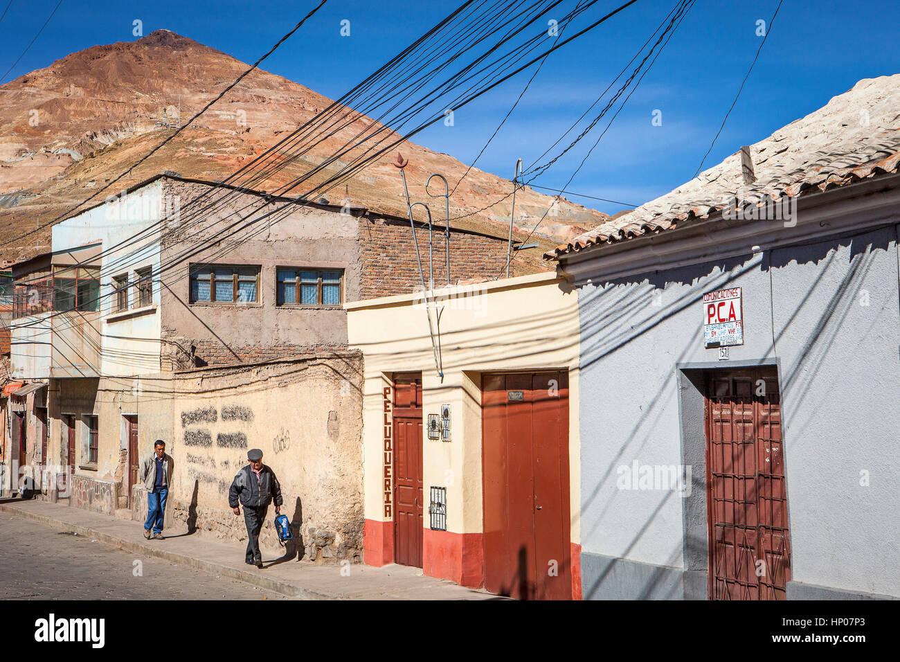 Cerro Rico from Potosi, Bolivia - Stock Image