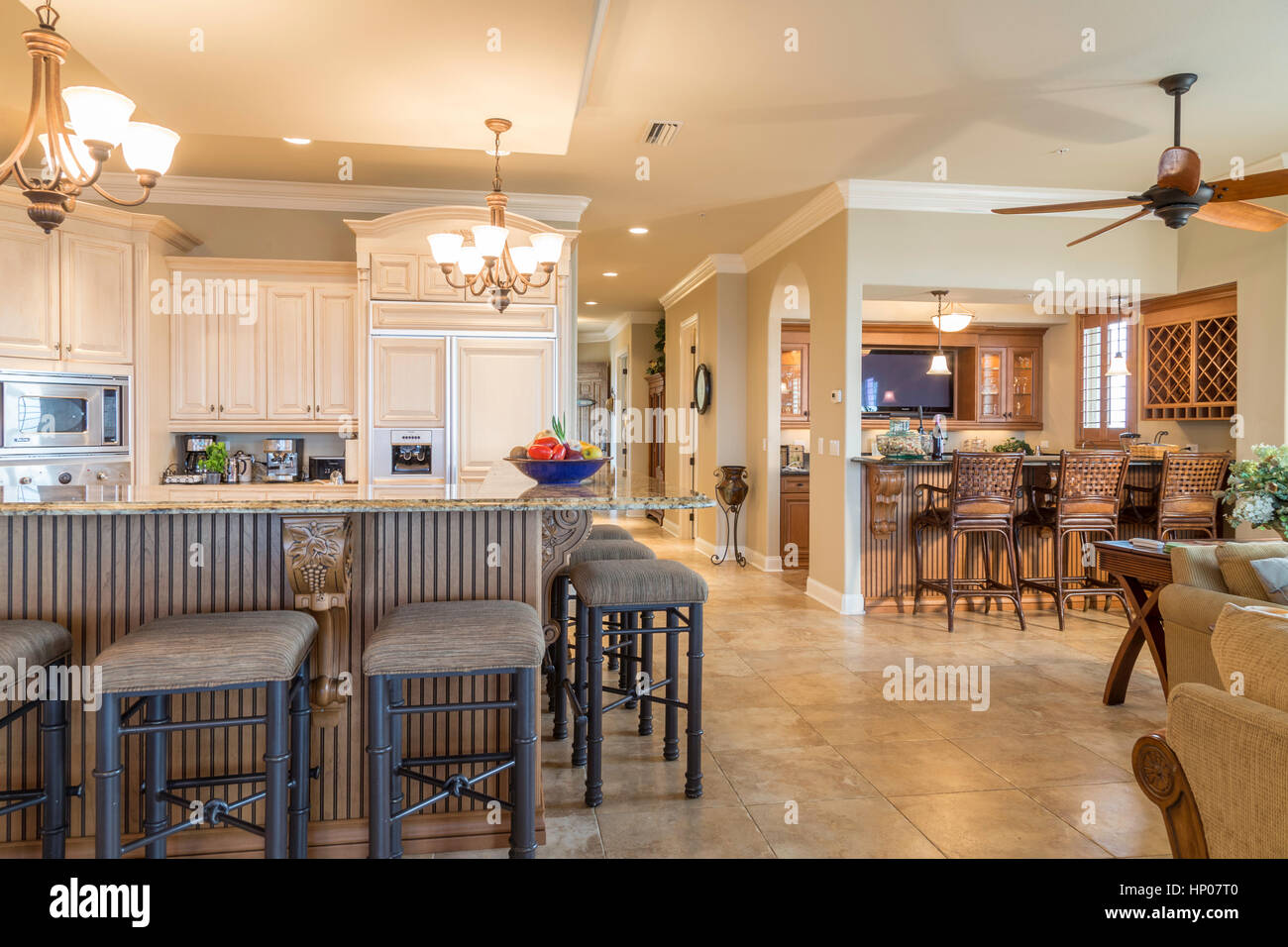 Huge Condo With Showcase Kitchen And Bar Area In Luxury Great Room With  Upscale Designer Appointments, Florida, USA